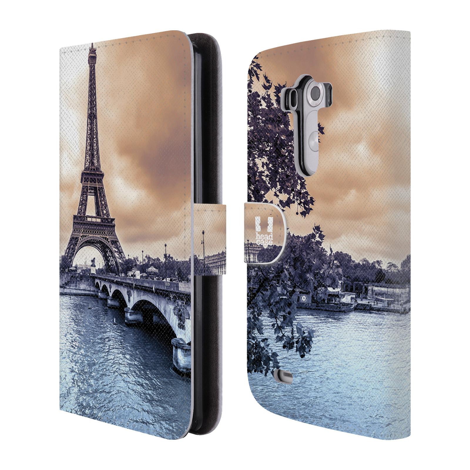 Flipové pouzdro na mobil LG G3 HEAD CASE Paříž (Flipový vyklápěcí kryt či obal z umělé kůže na mobilní telefon LG G3 D855)