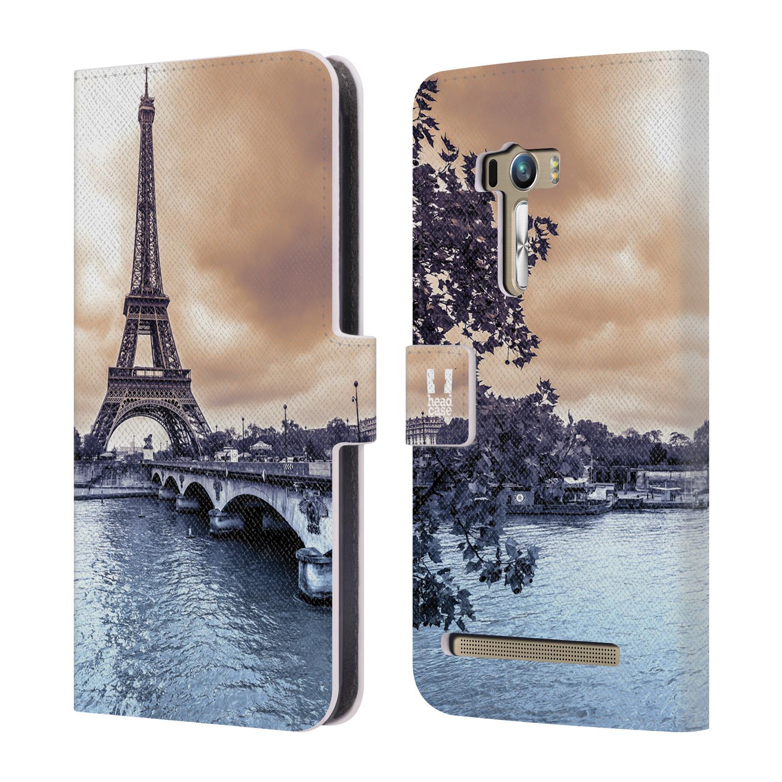 Flipové pouzdro na mobil Asus Zenfone Selfie ZD551KL HEAD CASE Paříž (Flipový vyklápěcí kryt či obal z umělé kůže na mobilní telefon Asus Zenfone Selfie ZD551KL)