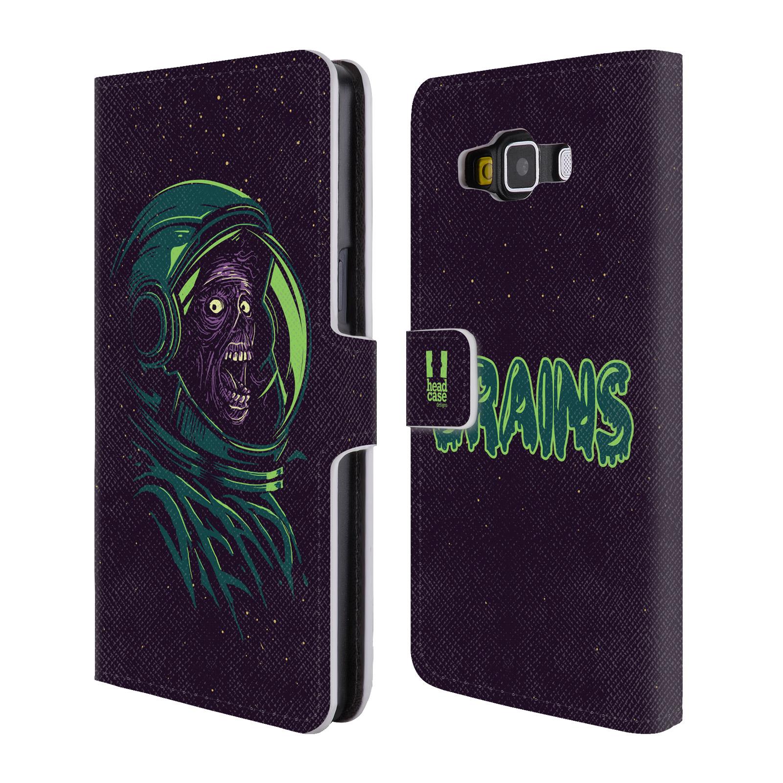 Flipové pouzdro na mobil Samsung Galaxy A5 HEAD CASE Zombie vesmír (Flipový vyklápěcí kryt či obal z umělé kůže na mobilní telefon Samsung Galaxy A5 SM-A500)
