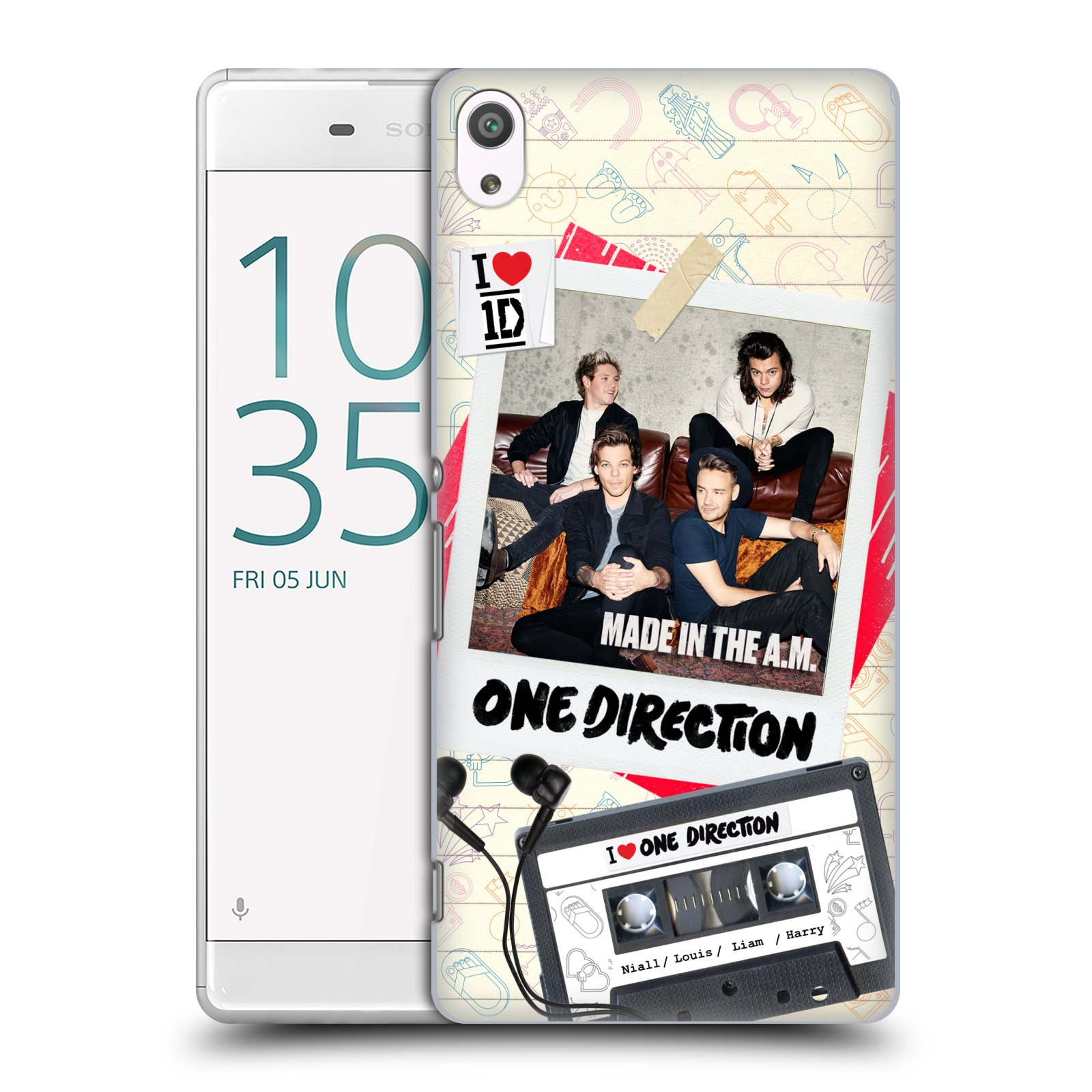 Plastové pouzdro na mobil Sony Xperia XA Ultra HEAD CASE One Direction - Kazeta (Plastový kryt či obal One Direction Official na mobilní telefon Sony Xperia XA Ultra F3211)