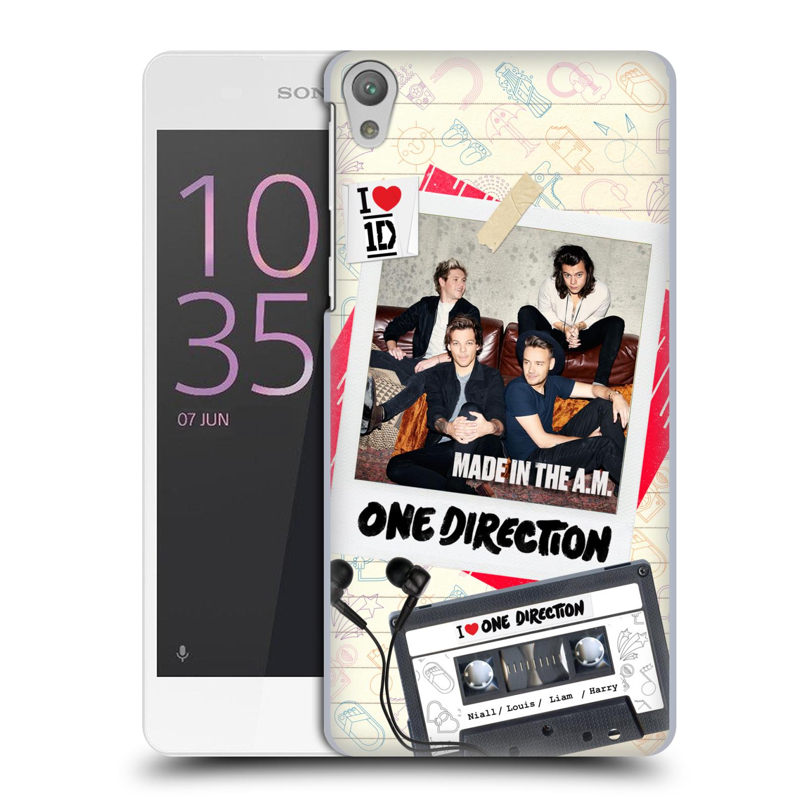 Plastové pouzdro na mobil Sony Xperia E5 HEAD CASE One Direction - Kazeta (Plastový kryt či obal One Direction Official na mobilní telefon Sony Xperia E5 F3311)