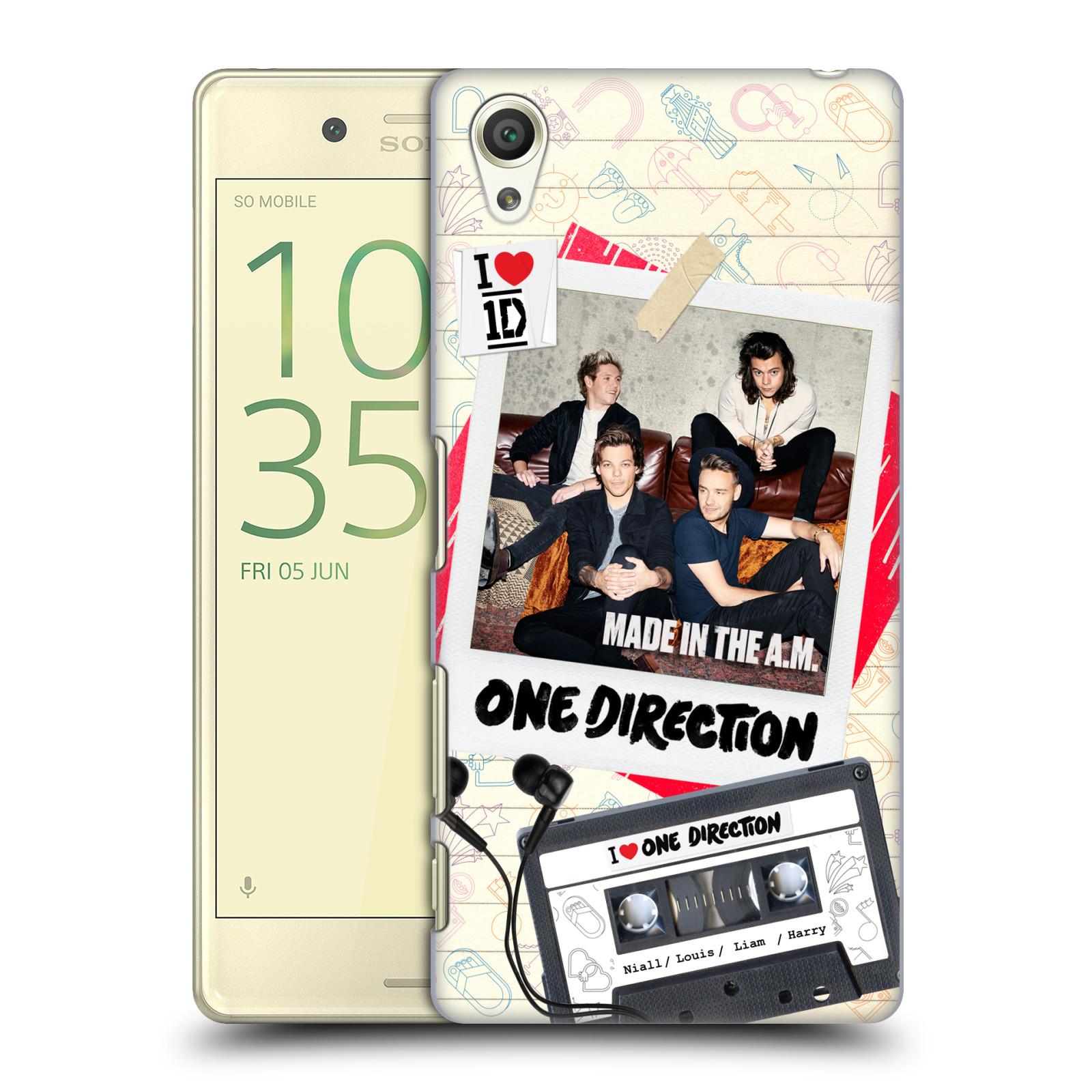 Plastové pouzdro na mobil Sony Xperia X HEAD CASE One Direction - Kazeta (Plastový kryt či obal One Direction Official na mobilní telefon Sony Xperia X F5121 / Dual F5122)
