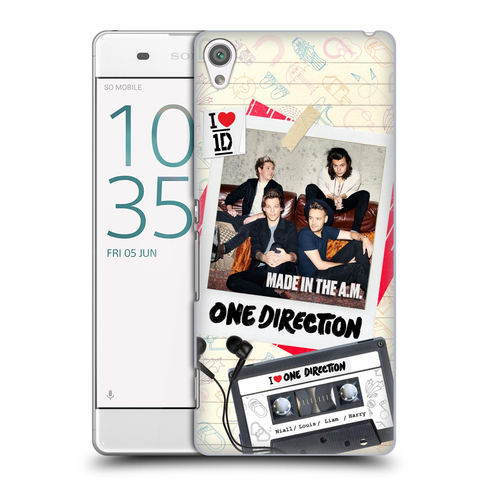 Plastové pouzdro na mobil Sony Xperia XA HEAD CASE One Direction - Kazeta (Plastový kryt či obal One Direction Official na mobilní telefon Sony Xperia XA F3111 / Dual F3112)