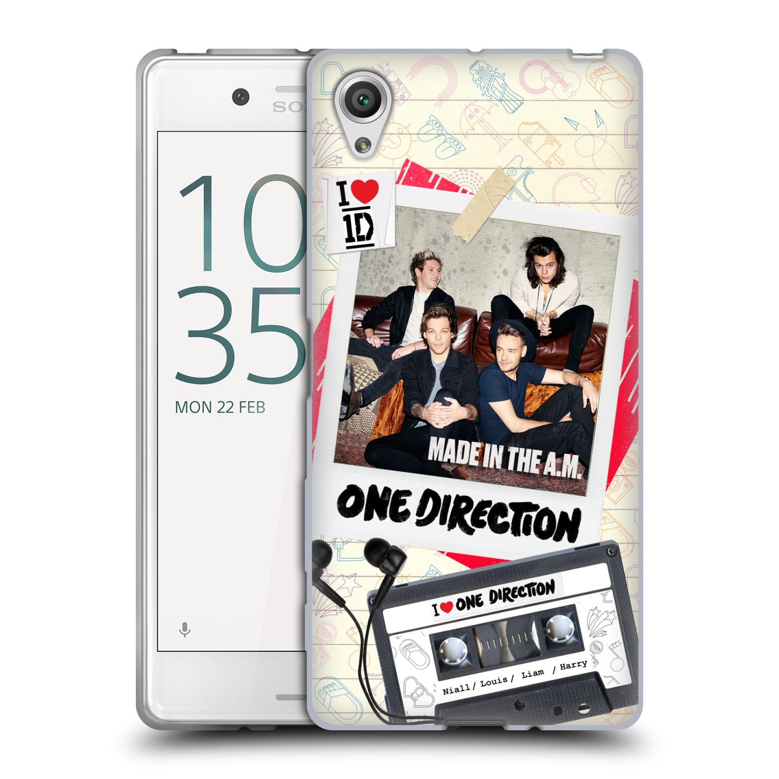 Silikonové pouzdro na mobil Sony Xperia X HEAD CASE One Direction - Kazeta (Silikonový kryt či obal One Direction Official na mobilní telefon Sony Xperia X F5121 / Dual SIM F5122)