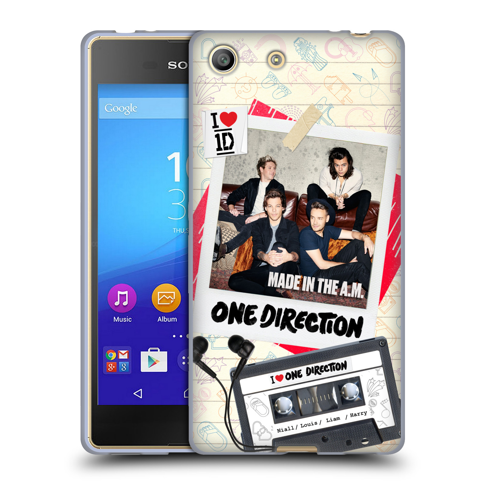 Silikonové pouzdro na mobil Sony Xperia M5 HEAD CASE One Direction - Kazeta (Silikonový kryt či obal One Direction Official na mobilní telefon Sony Xperia M5 Dual SIM / Aqua)
