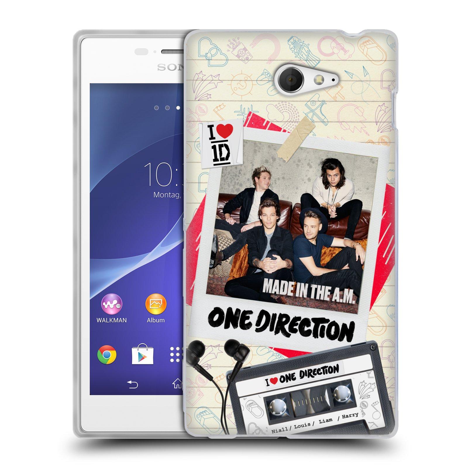 Silikonové pouzdro na mobil Sony Xperia M2 D2303 HEAD CASE One Direction - Kazeta (Silikonový kryt či obal One Direction Official na mobilní telefon Sony Xperia M2)
