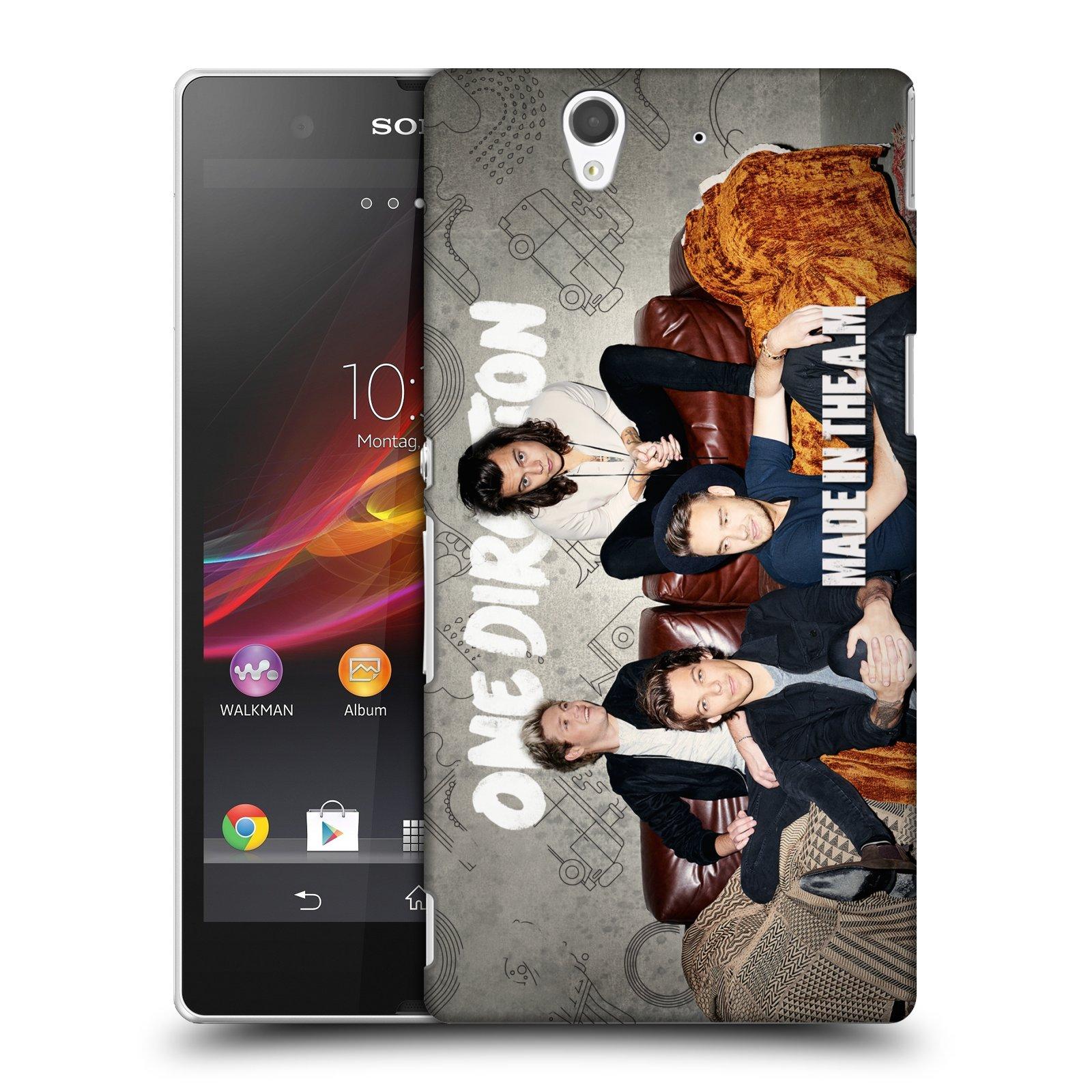Plastové pouzdro na mobil Sony Xperia Z C6603 HEAD CASE One Direction - Na Gaučíku (Kryt či obal One Direction Official na mobilní telefon Sony Xperia Z)