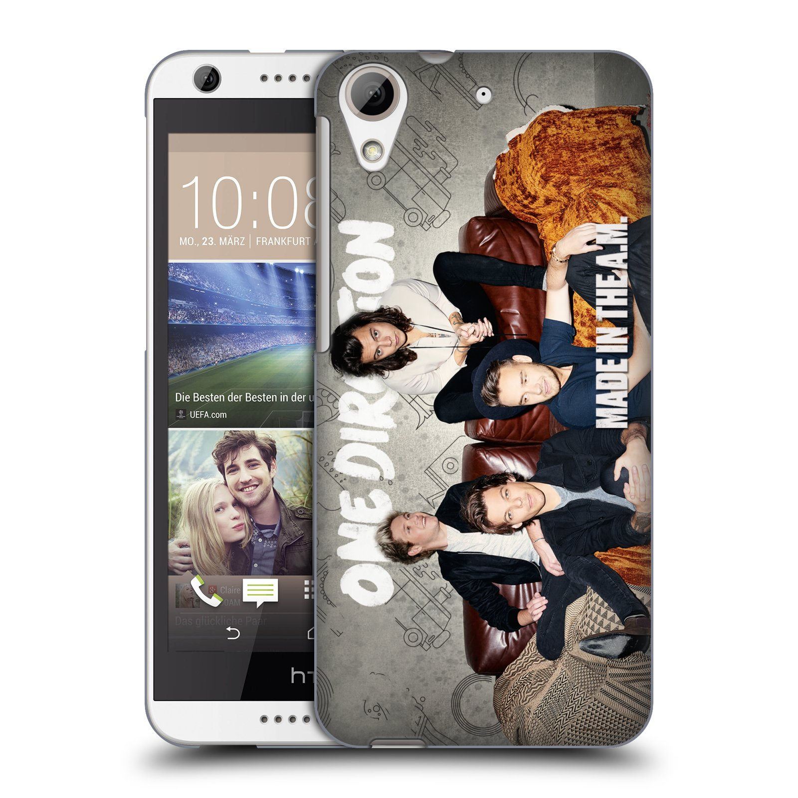 Plastové pouzdro na mobil HTC Desire 626 / 626G HEAD CASE One Direction - Na Gaučíku (Kryt či obal One Direction Official na mobilní telefon HTC Desire 626G Dual SIM a HTC Desire 626)