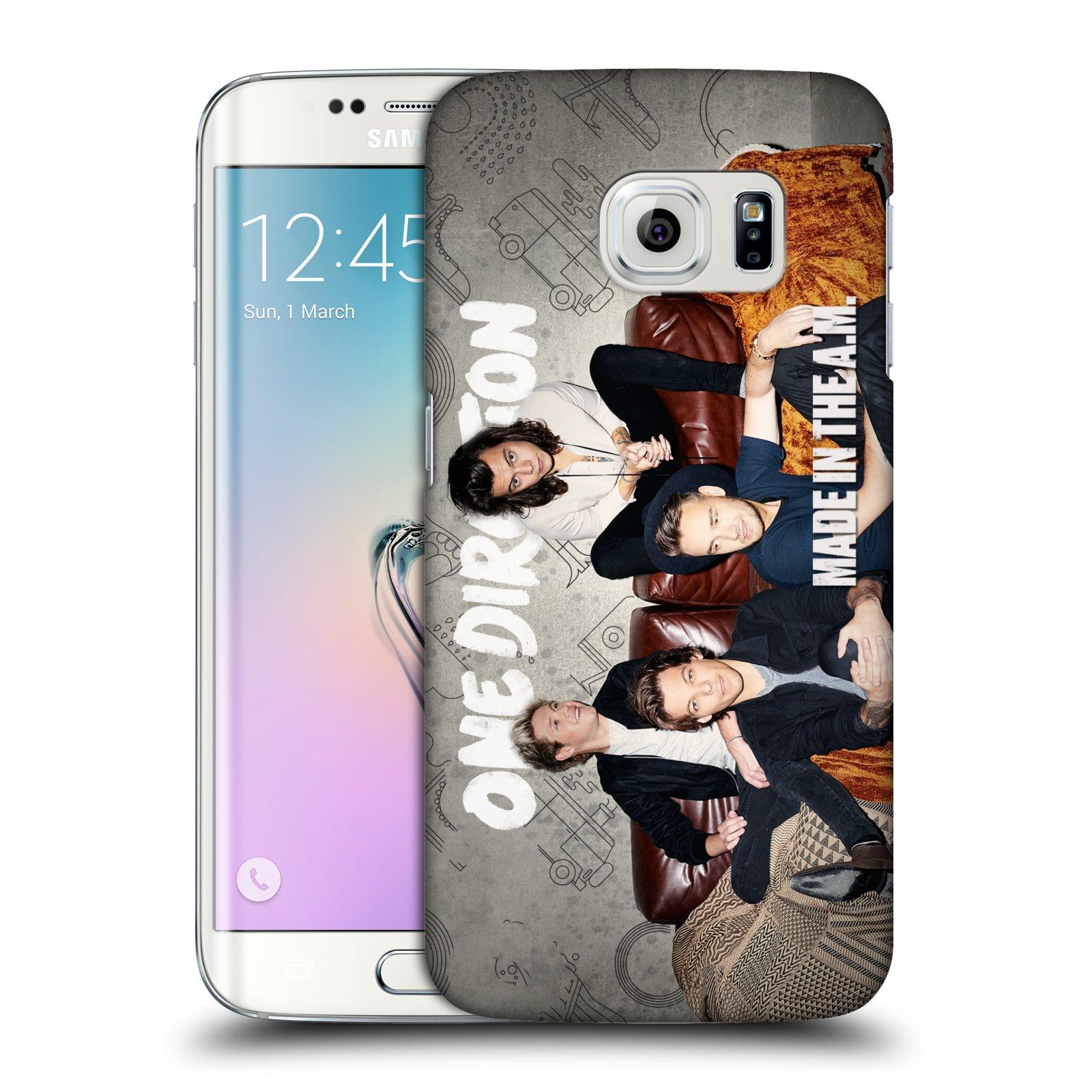 Plastové pouzdro na mobil Samsung Galaxy S6 Edge HEAD CASE One Direction - Na Gaučíku (Kryt či obal One Direction Official na mobilní telefon Samsung Galaxy S6 Edge SM-G925F)