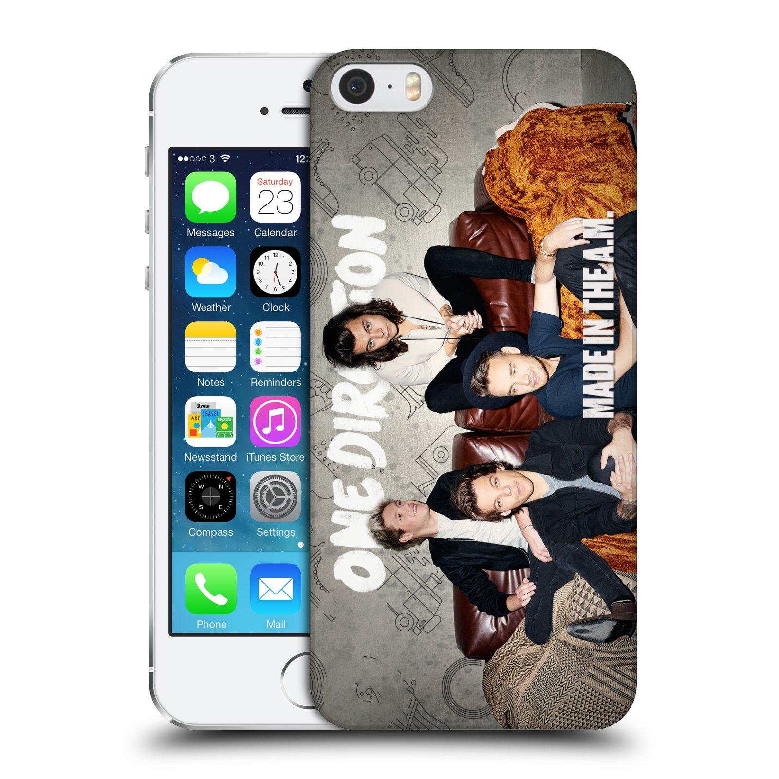 Plastové pouzdro na mobil Apple iPhone SE, 5 a 5S HEAD CASE One Direction - Na Gaučíku
