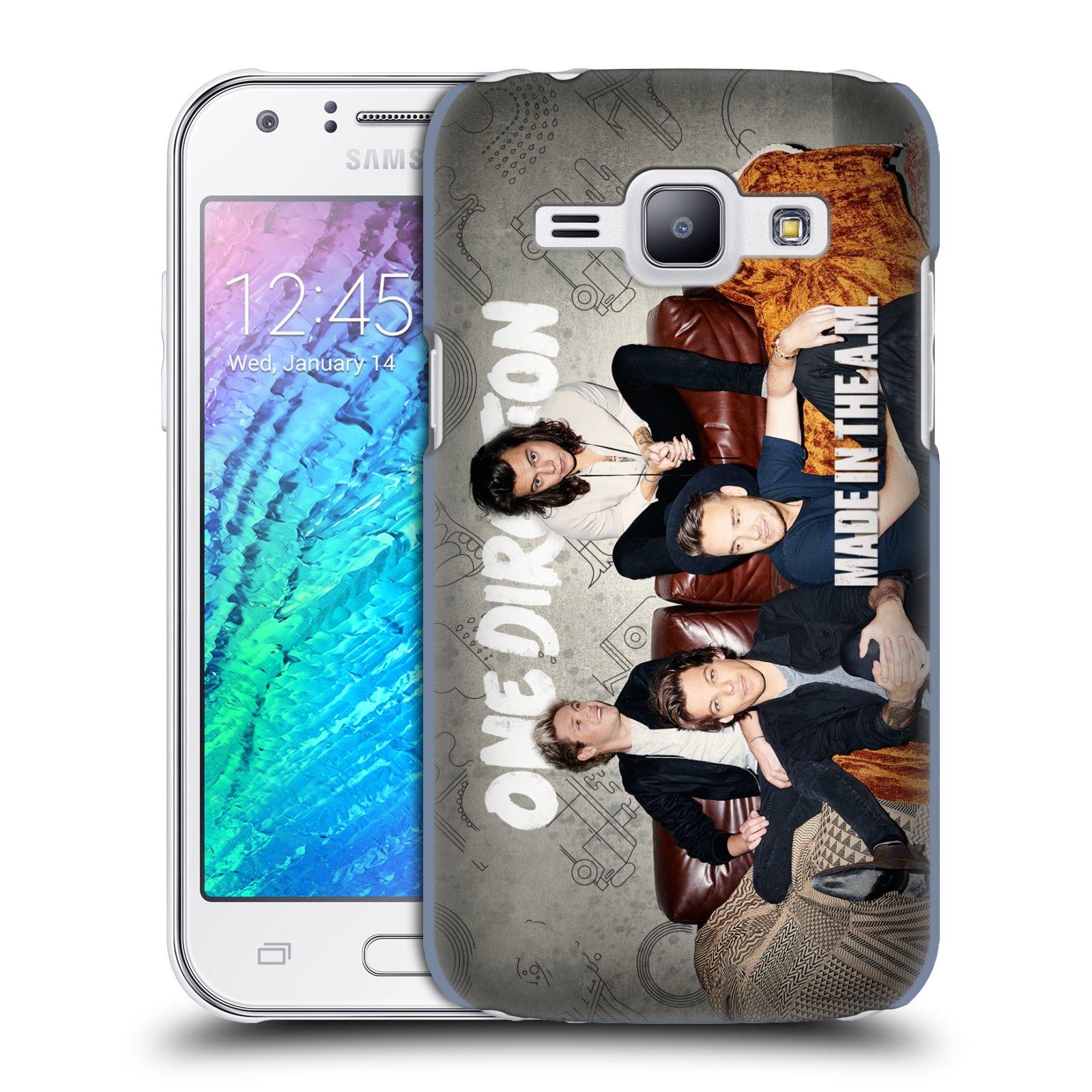 Plastové pouzdro na mobil Samsung Galaxy J1 HEAD CASE One Direction - Na Gaučíku (Kryt či obal One Direction Official na mobilní telefon Samsung Galaxy J1 a J1 Duos )
