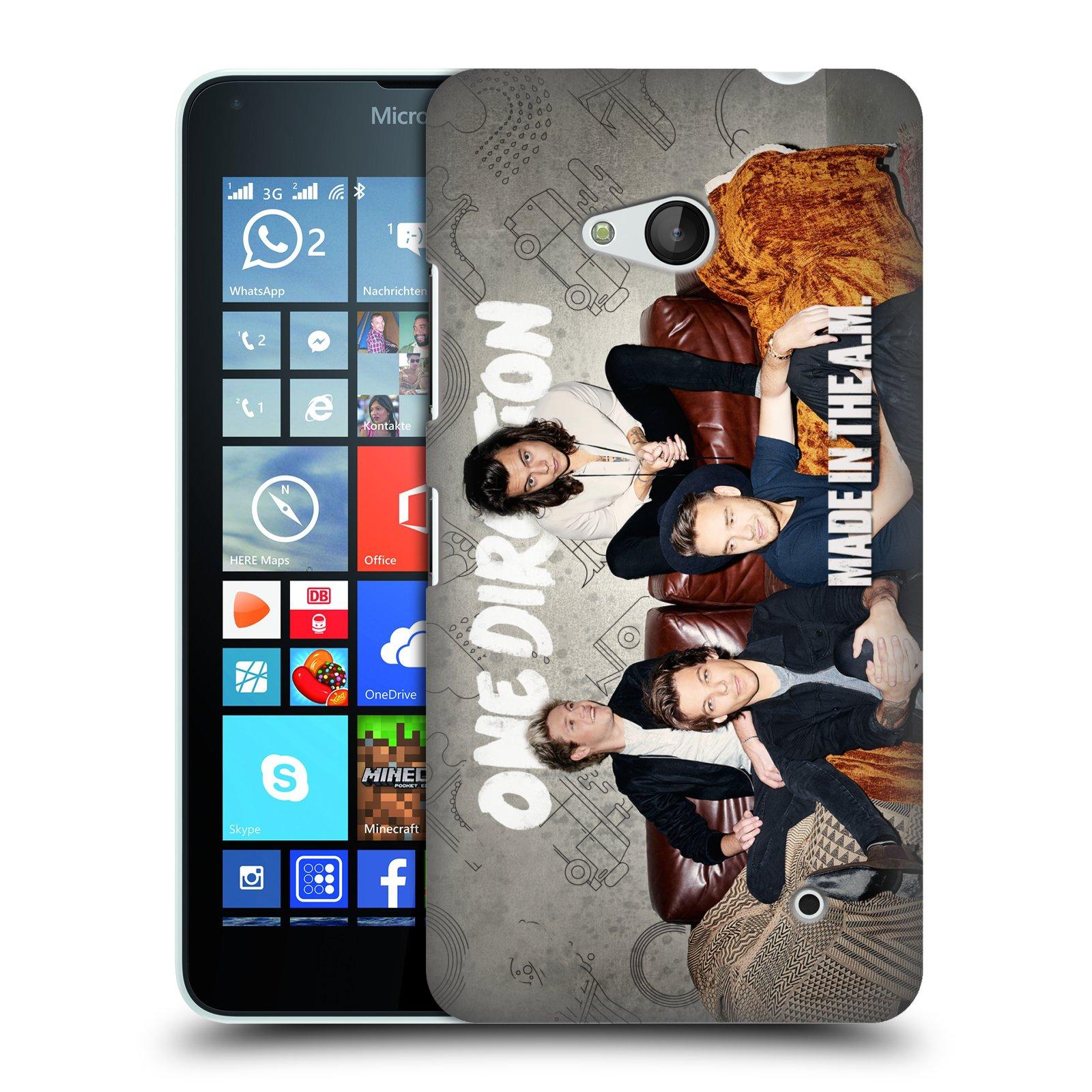Plastové pouzdro na mobil Microsoft Lumia 640 HEAD CASE One Direction - Na Gaučíku