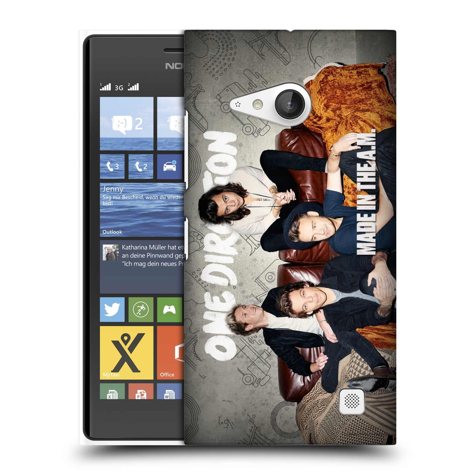 Plastové pouzdro na mobil Nokia Lumia 730 Dual SIM HEAD CASE One Direction - Na Gaučíku