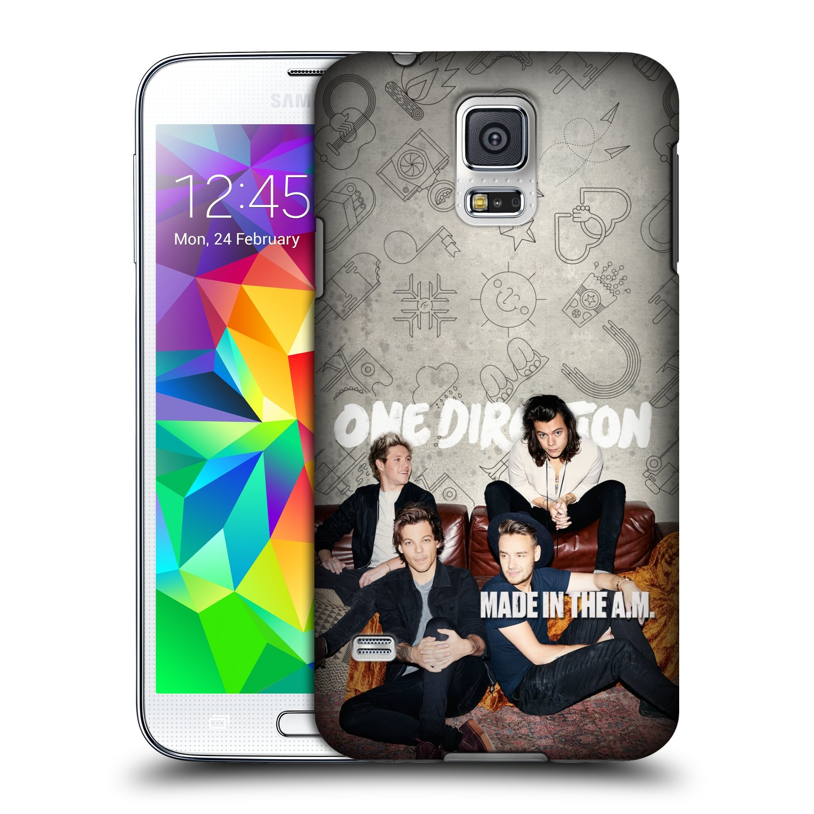 Plastové pouzdro na mobil Samsung Galaxy S5 HEAD CASE One Direction - Na Gaučíku
