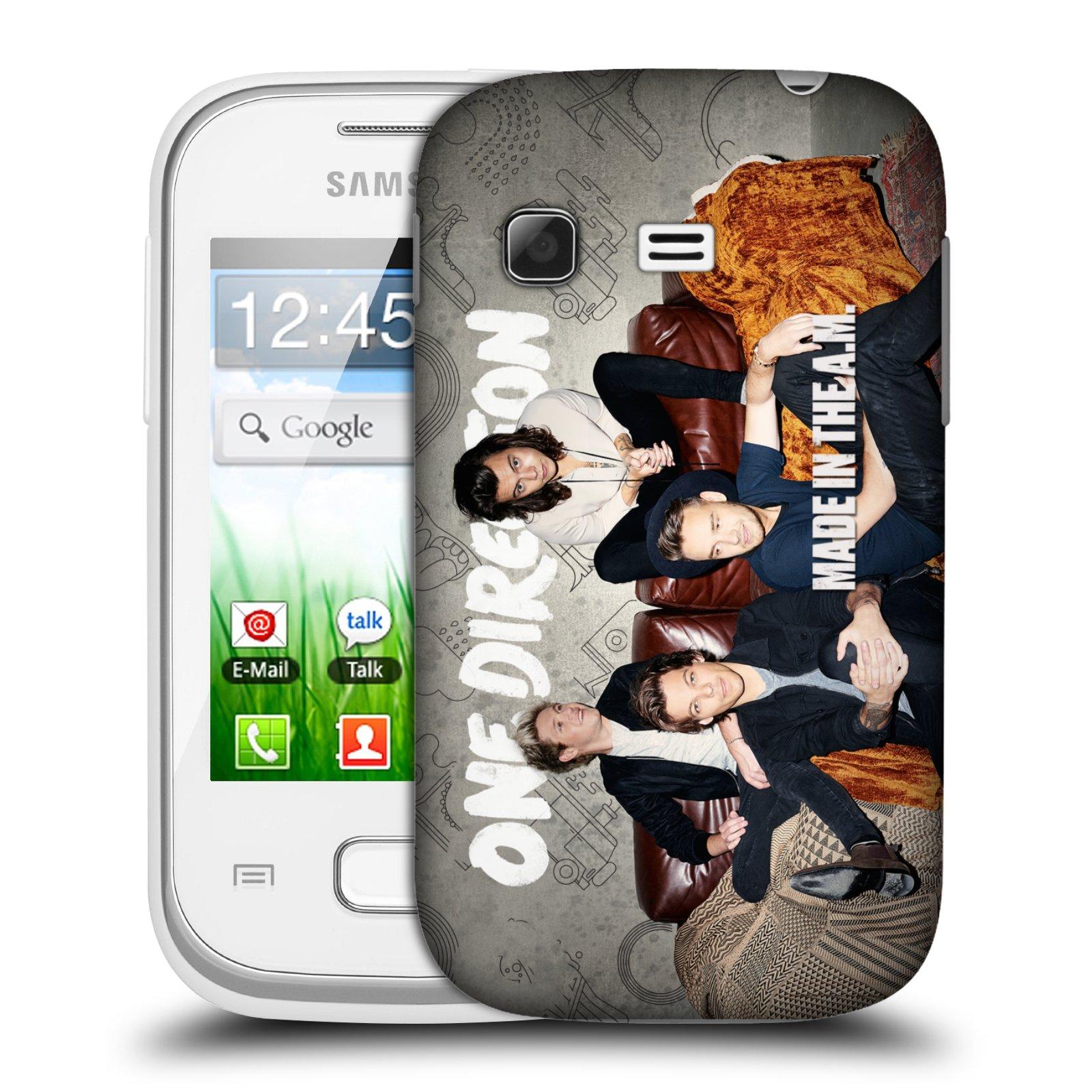 Plastové pouzdro na mobil Samsung Galaxy Pocket HEAD CASE One Direction - Na Gaučíku (Kryt či obal One Direction Official na mobilní telefon Samsung Galaxy Pocket GT-S5300)