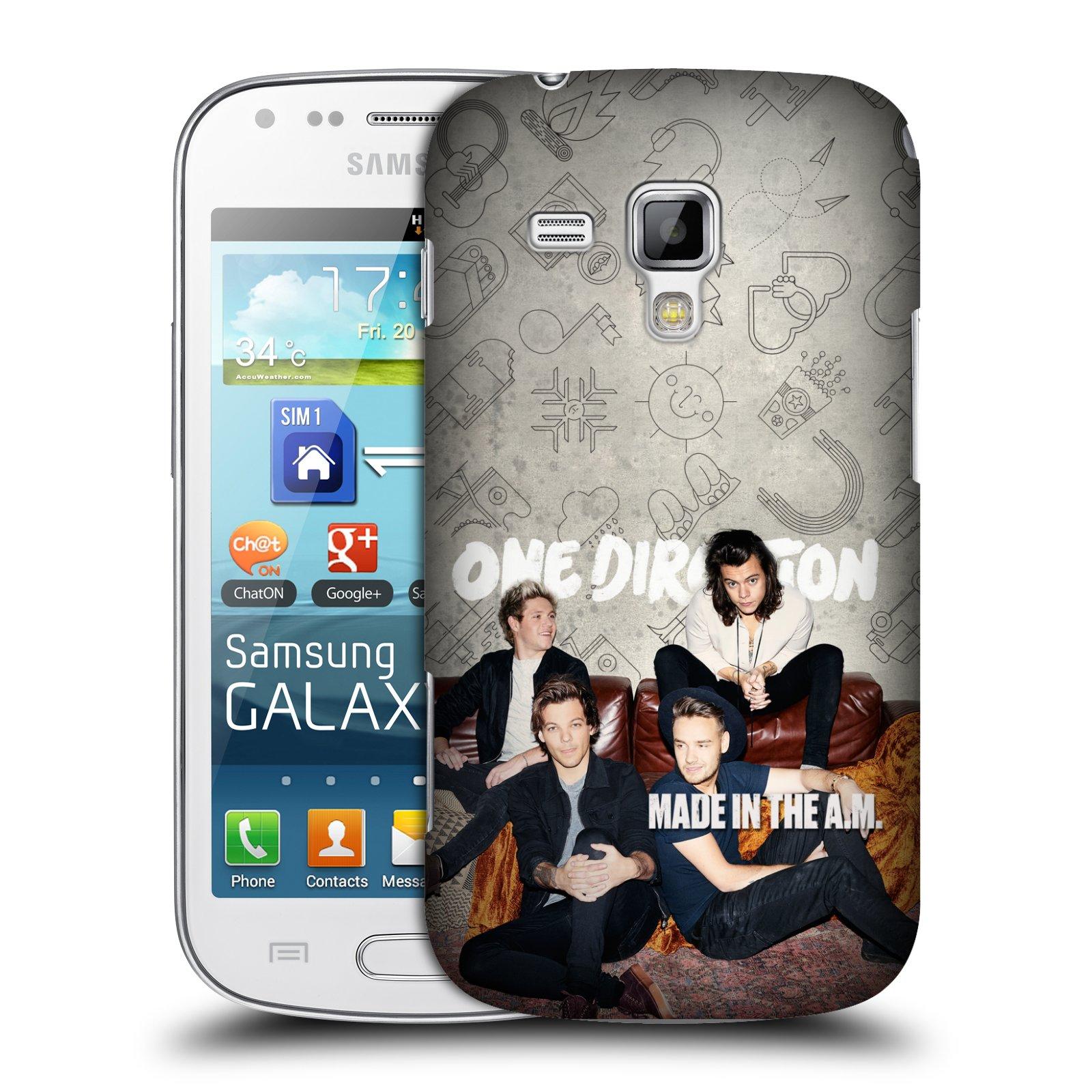 Plastové pouzdro na mobil Samsung Galaxy Trend HEAD CASE One Direction - Na Gaučíku (Kryt či obal One Direction Official na mobilní telefon Samsung Galaxy Trend GT-S7560)