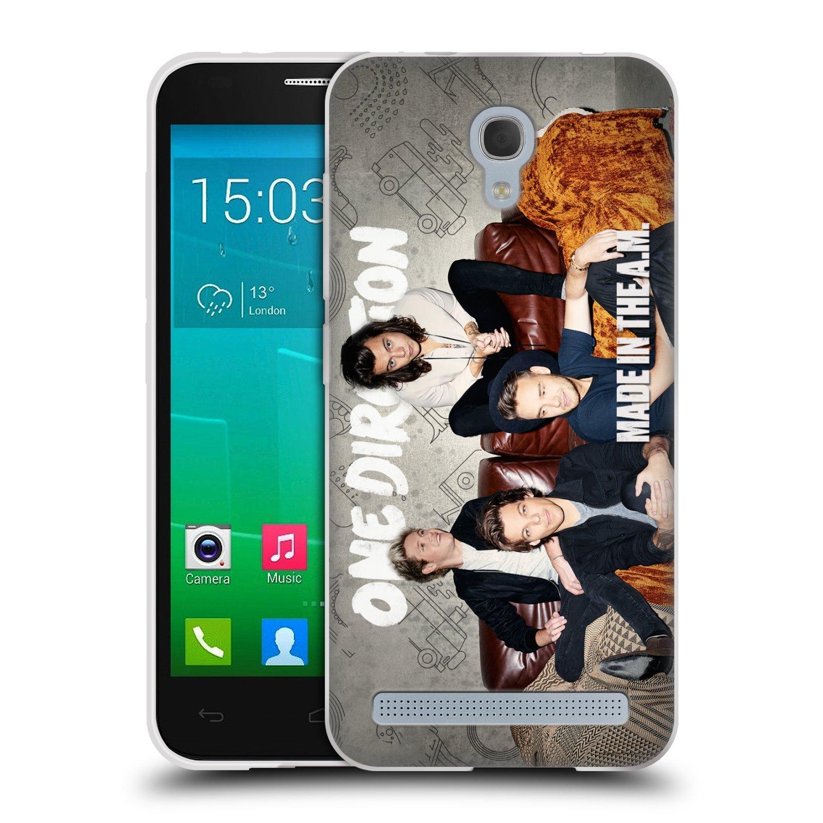 Silikonové pouzdro na mobil Alcatel One Touch Idol 2 Mini S 6036Y HEAD CASE One Direction - Na Gaučíku (Silikonový kryt či obal One Direction Official na mobilní telefon Alcatel Idol 2 Mini S OT-6036Y)