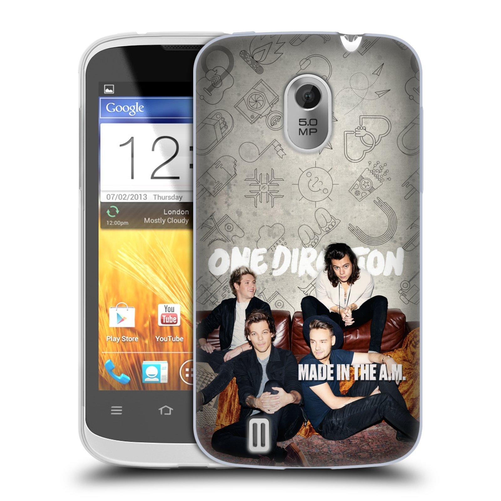 Silikonové pouzdro na mobil ZTE Blade III HEAD CASE One Direction - Na Gaučíku (Silikonový kryt či obal One Direction Official na mobilní telefon ZTE Blade 3)