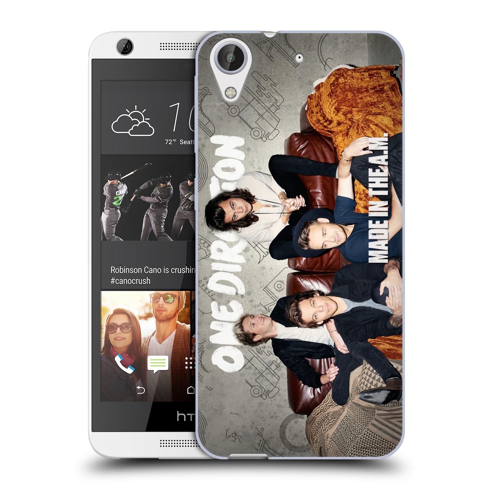 Silikonové pouzdro na mobil HTC Desire 626 / 626G HEAD CASE One Direction - Na Gaučíku (Silikonový kryt či obal One Direction Official na mobilní telefon HTC Desire 626 a 626G Dual SIM)