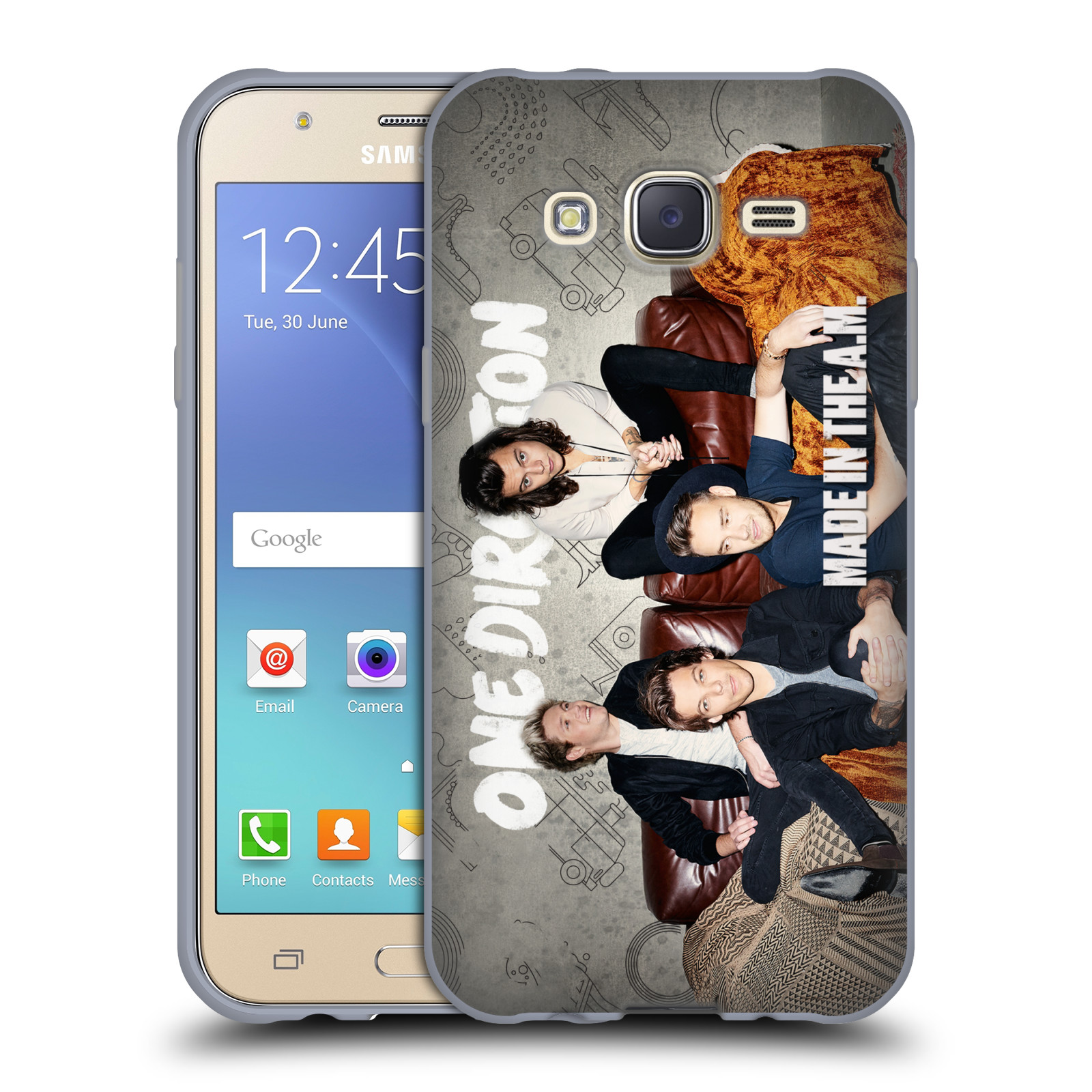 Silikonové pouzdro na mobil Samsung Galaxy J5 HEAD CASE One Direction - Na Gaučíku