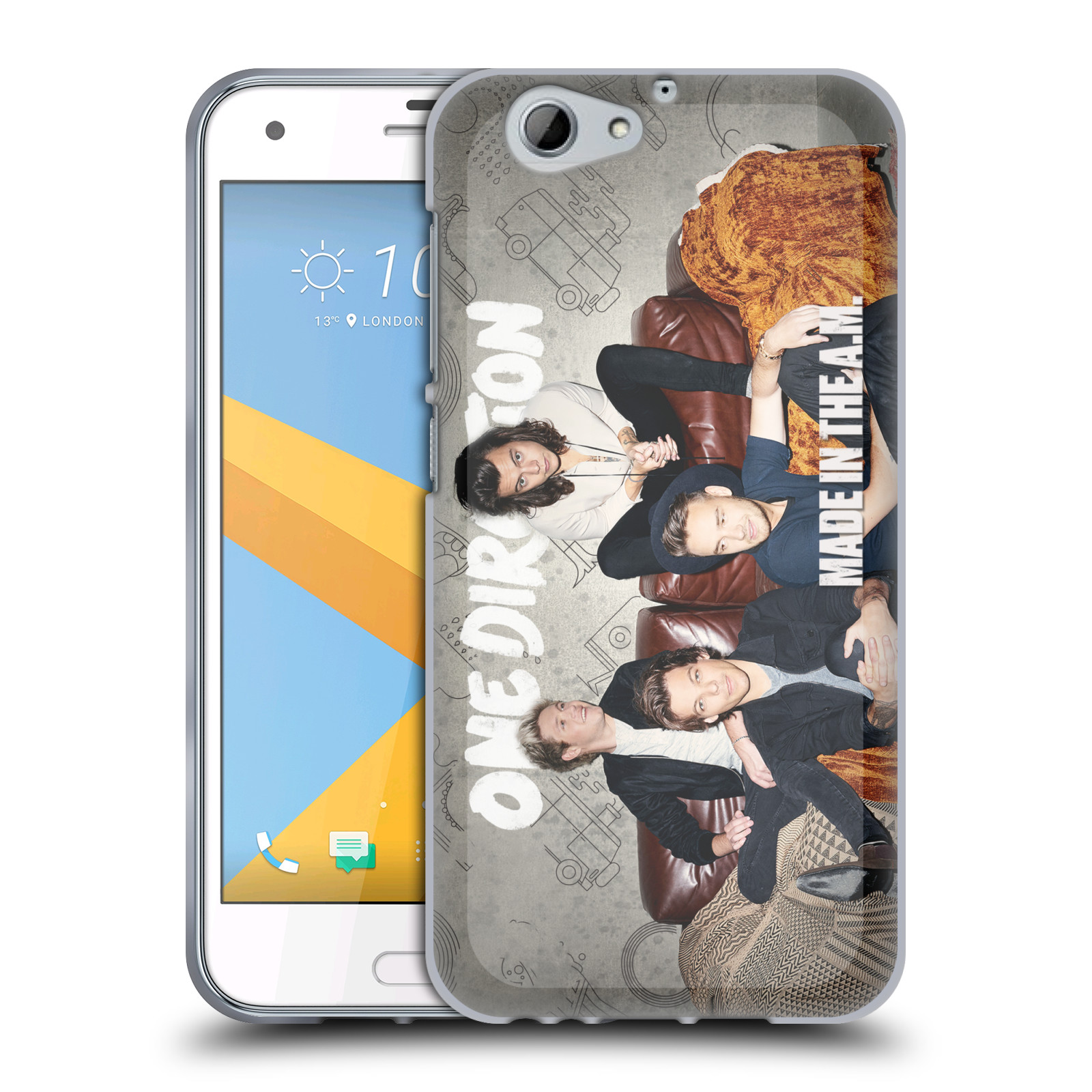 Silikonové pouzdro na mobil HTC One A9s Head Case - One Direction - Na Gaučíku (Silikonový kryt či obal One Direction Official na mobilní telefon HTC One A9s (A9 s))