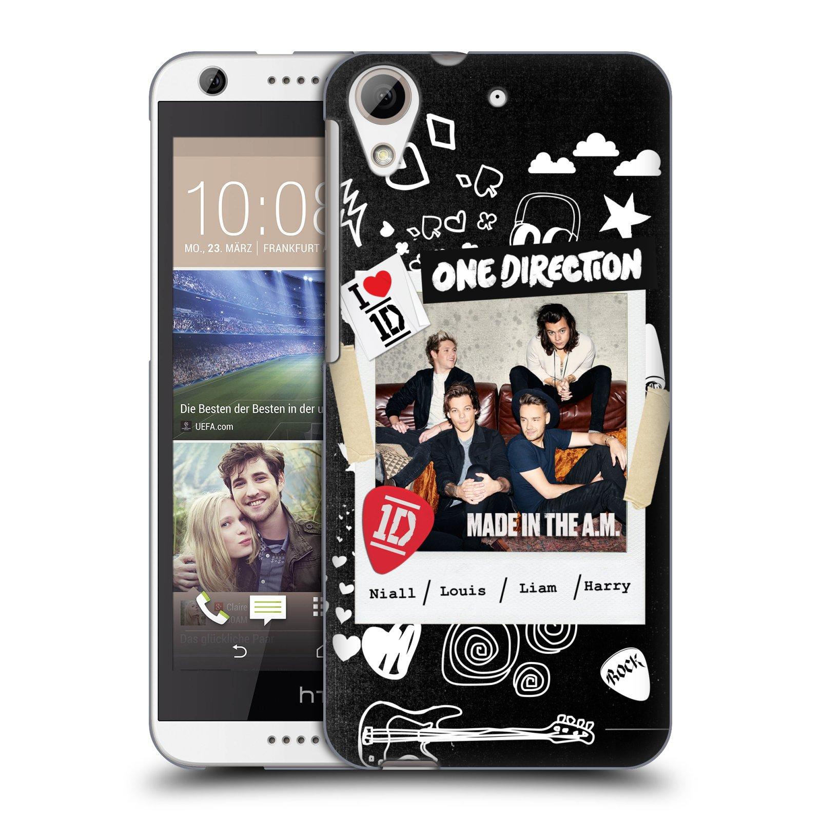 Plastové pouzdro na mobil HTC Desire 626 / 626G HEAD CASE One Direction - S kytárou (Kryt či obal One Direction Official na mobilní telefon HTC Desire 626G Dual SIM a HTC Desire 626)
