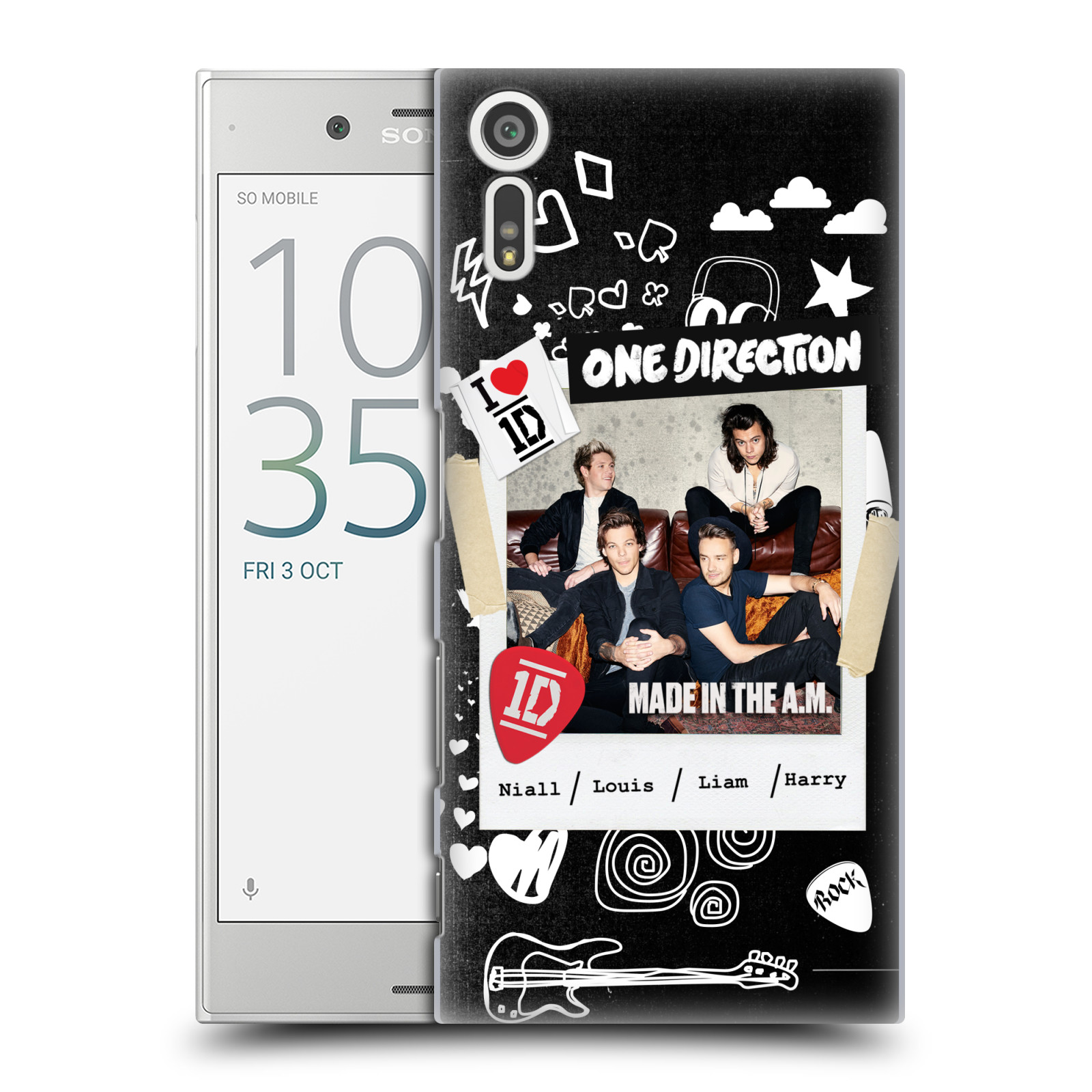 Plastové pouzdro na mobil Sony Xperia XZ - Head Case One Direction - S kytárou