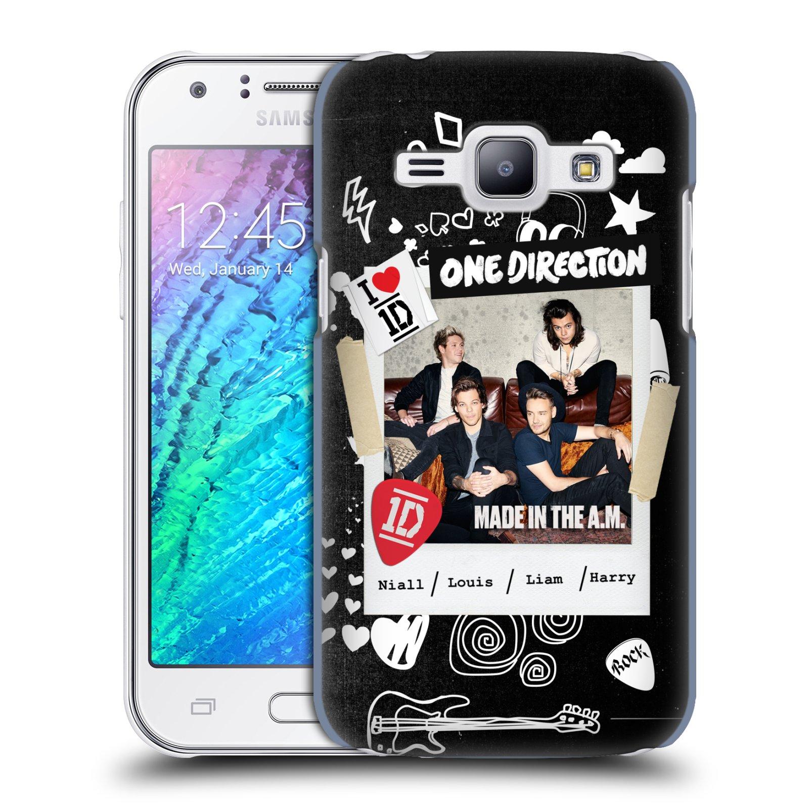 Plastové pouzdro na mobil Samsung Galaxy J1 HEAD CASE One Direction - S kytárou (Kryt či obal One Direction Official na mobilní telefon Samsung Galaxy J1 a J1 Duos )