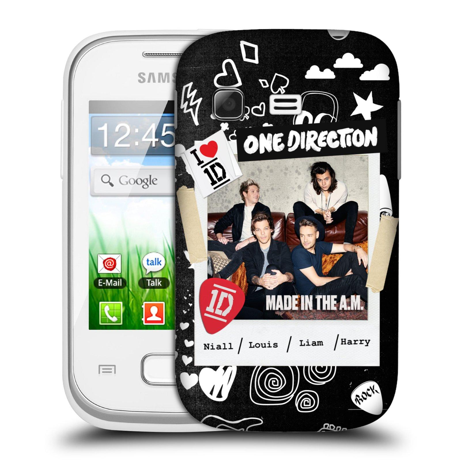 Plastové pouzdro na mobil Samsung Galaxy Pocket HEAD CASE One Direction - S kytárou (Kryt či obal One Direction Official na mobilní telefon Samsung Galaxy Pocket GT-S5300)