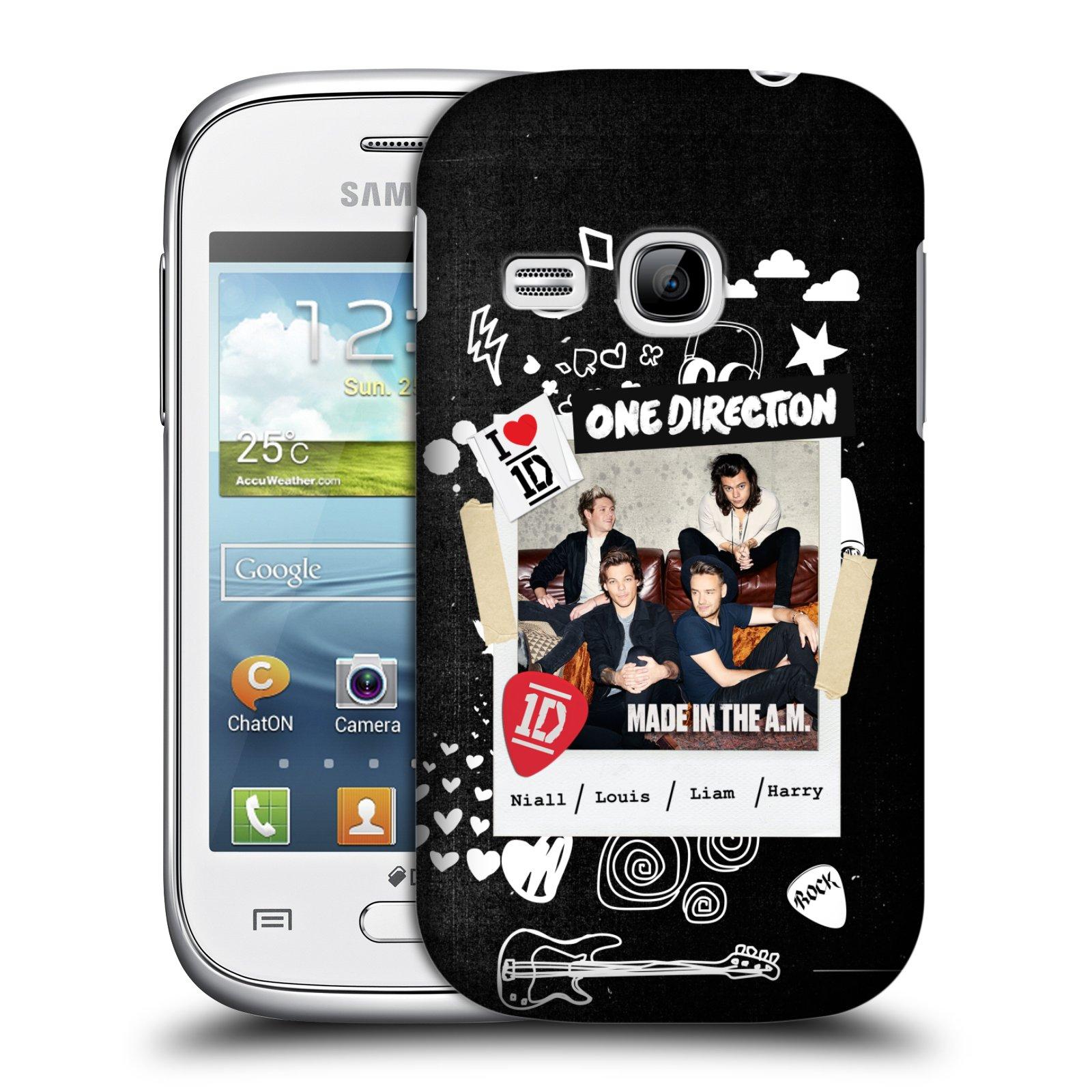 Plastové pouzdro na mobil Samsung Galaxy Young HEAD CASE One Direction - S kytárou (Kryt či obal One Direction Official na mobilní telefon Samsung Galaxy Young GT-S6310)