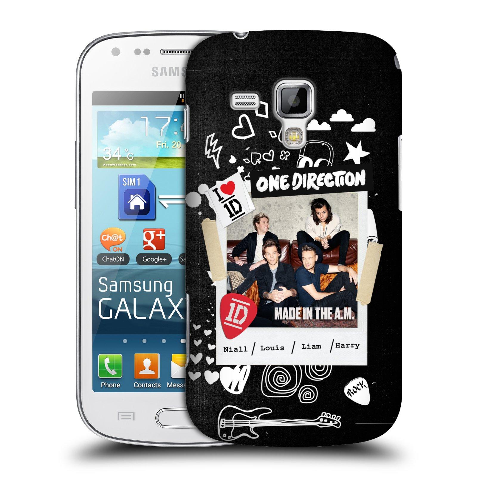 Plastové pouzdro na mobil Samsung Galaxy Trend HEAD CASE One Direction - S kytárou (Kryt či obal One Direction Official na mobilní telefon Samsung Galaxy Trend GT-S7560)