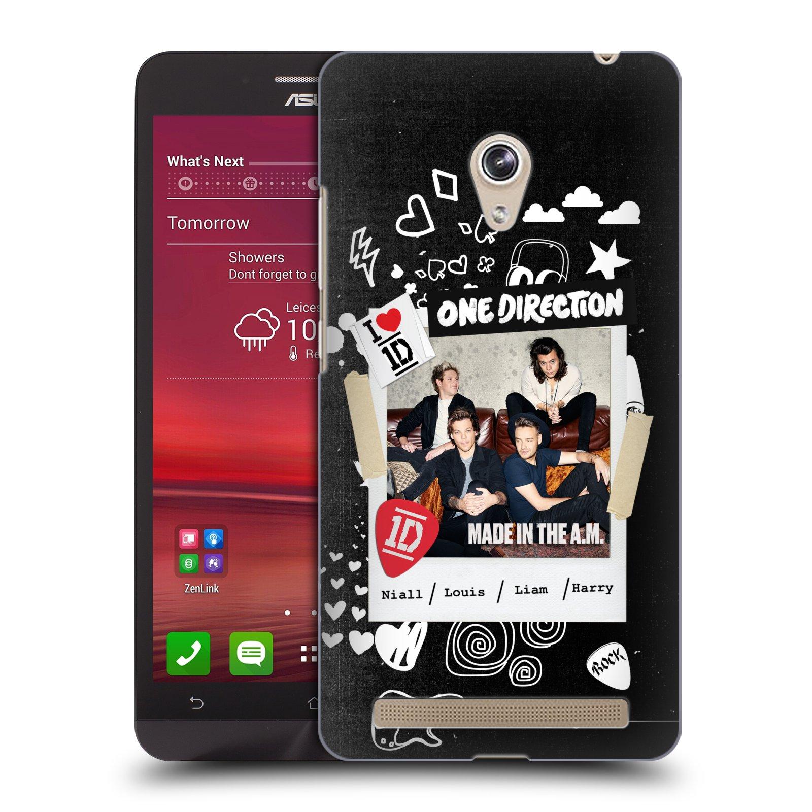 Plastové pouzdro na mobil Asus Zenfone 6 HEAD CASE One Direction - S kytárou (Kryt či obal One Direction Official na mobilní telefon Asus Zenfone 6 A600CG / A601CG)