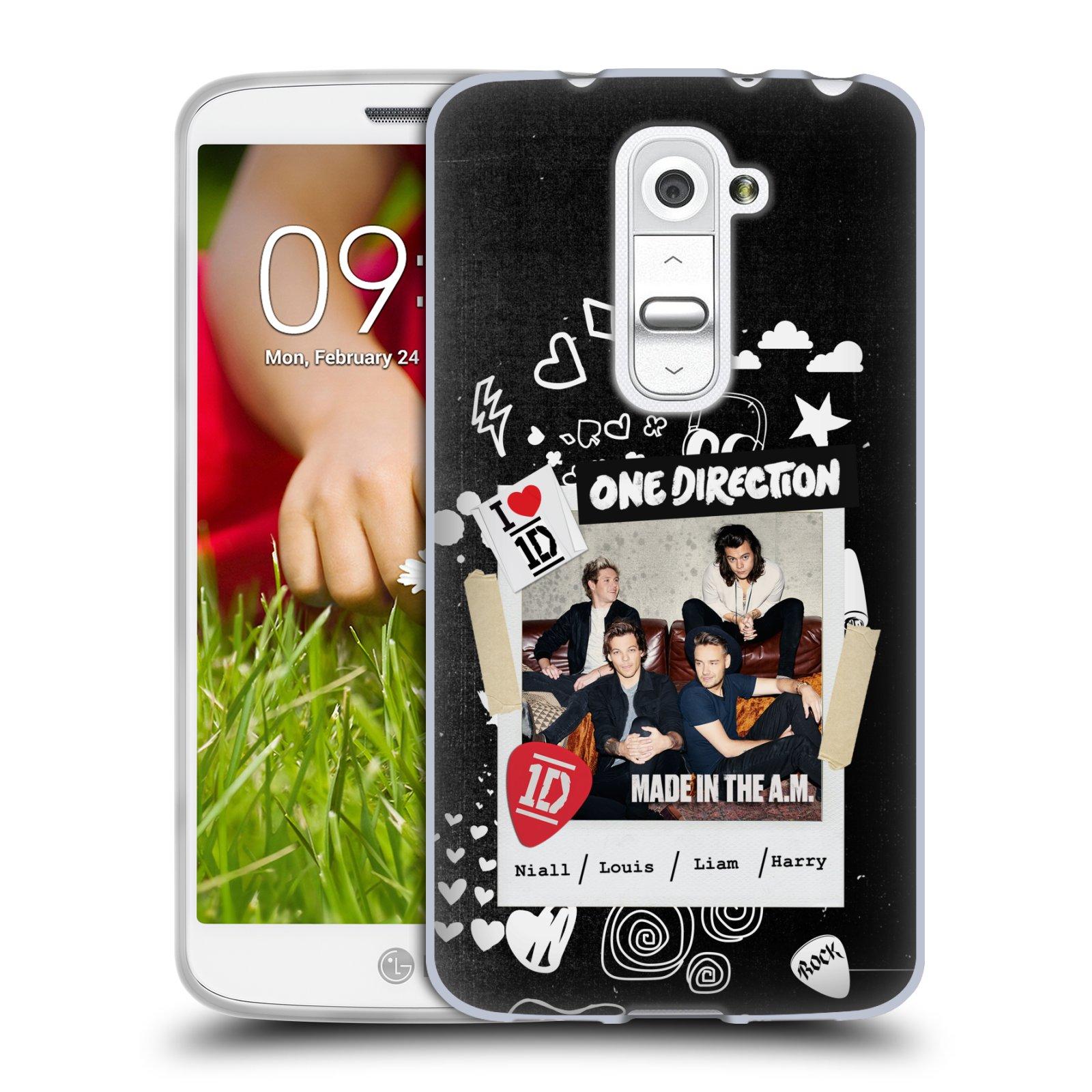 Silikonové pouzdro na mobil LG G2 Mini HEAD CASE One Direction - S kytárou (Silikonový kryt či obal One Direction Official na mobilní telefon LG G2 Mini D620)