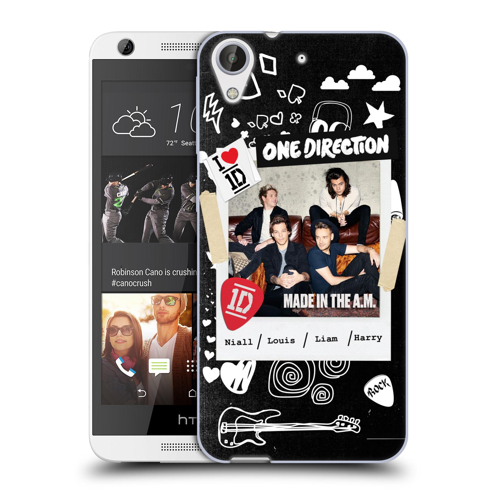 Silikonové pouzdro na mobil HTC Desire 626 / 626G HEAD CASE One Direction - S kytárou (Silikonový kryt či obal One Direction Official na mobilní telefon HTC Desire 626 a 626G Dual SIM)