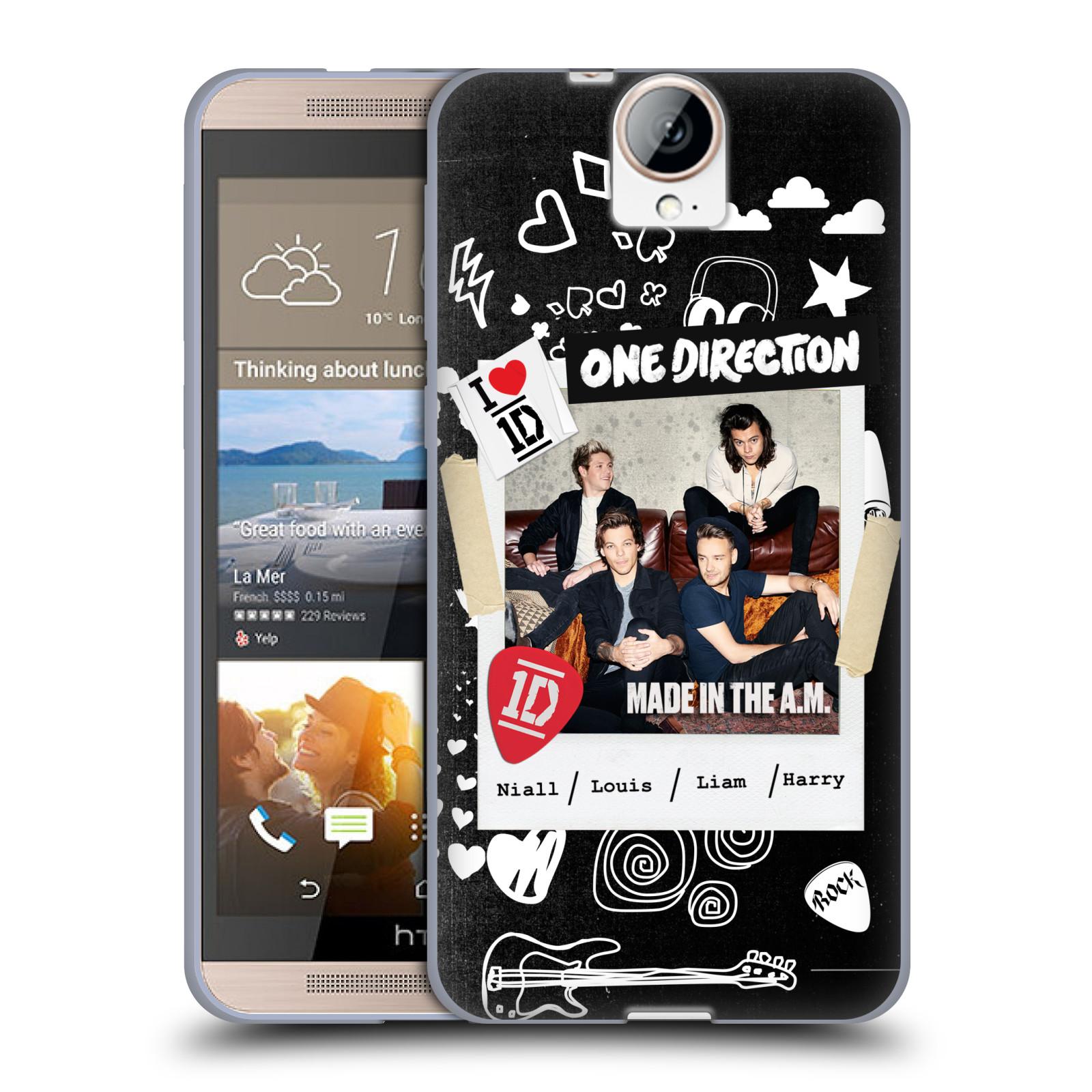 Silikonové pouzdro na mobil HTC One E9+(Plus) HEAD CASE One Direction - S kytárou (Silikonový kryt či obal One Direction Official na mobilní telefon HTC One E9+)