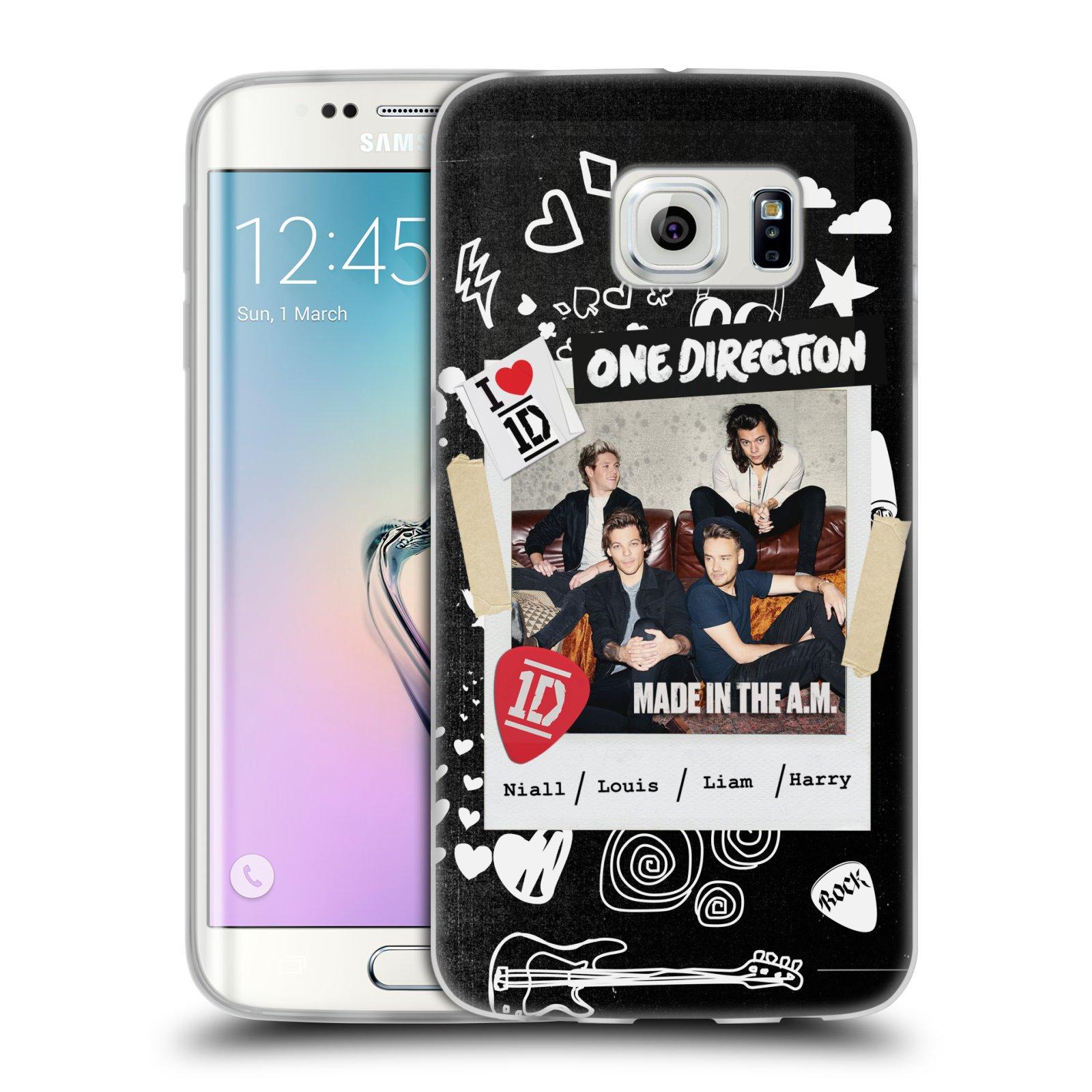 Silikonové pouzdro na mobil Samsung Galaxy S6 Edge HEAD CASE One Direction - S kytárou (Silikonový kryt či obal One Direction Official na mobilní telefon Samsung Galaxy S6 Edge SM-G925F)