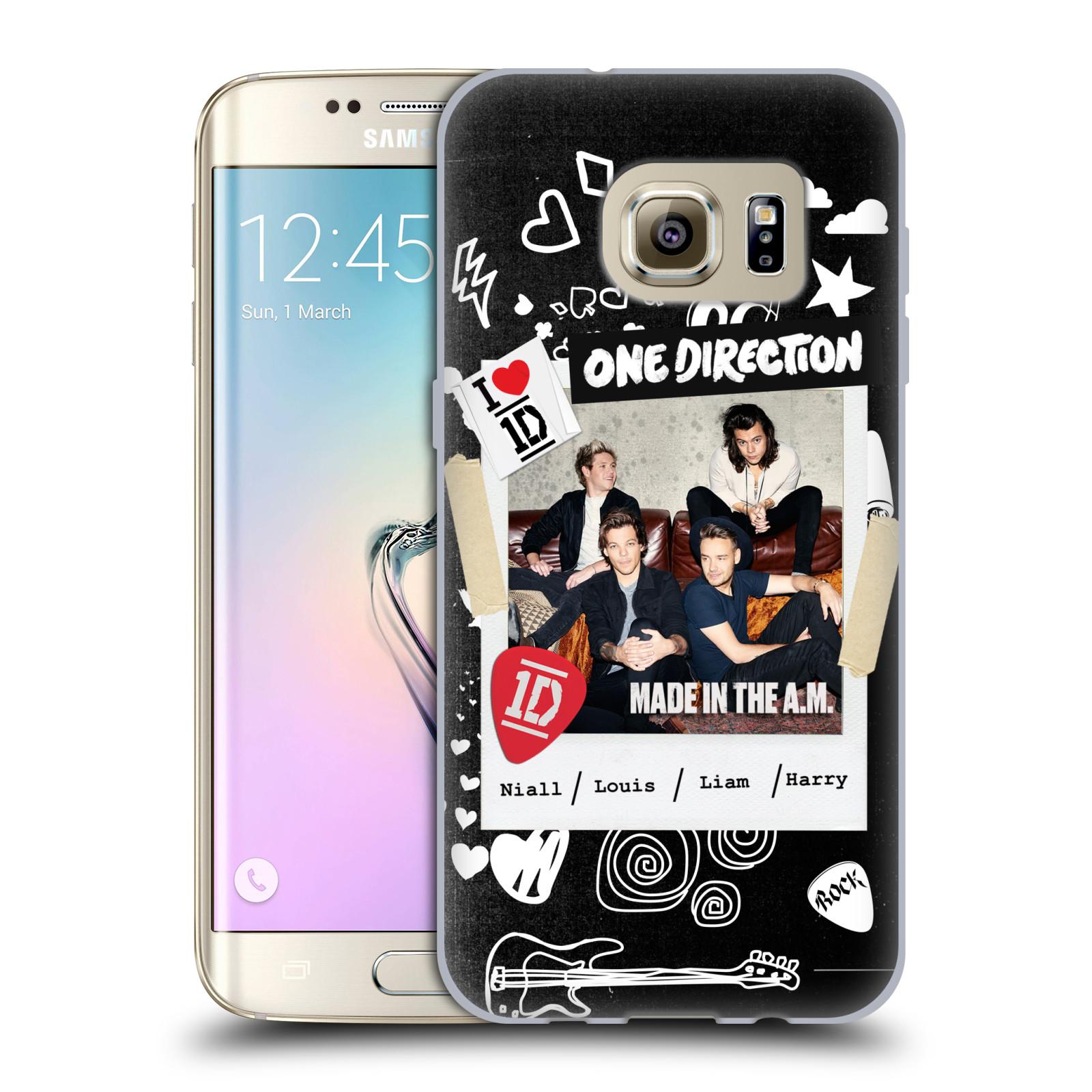 Silikonové pouzdro na mobil Samsung Galaxy S7 Edge HEAD CASE One Direction - S kytárou (Silikonový kryt či obal One Direction Official na mobilní telefon Samsung Galaxy S7 Edge SM-G935F)