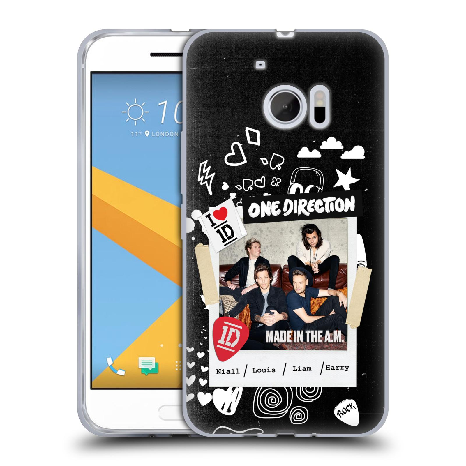 Silikonové pouzdro na mobil HTC 10 HEAD CASE One Direction - S kytárou (Silikonový kryt či obal One Direction Official na mobilní telefon HTC 10 (HTC One M10))