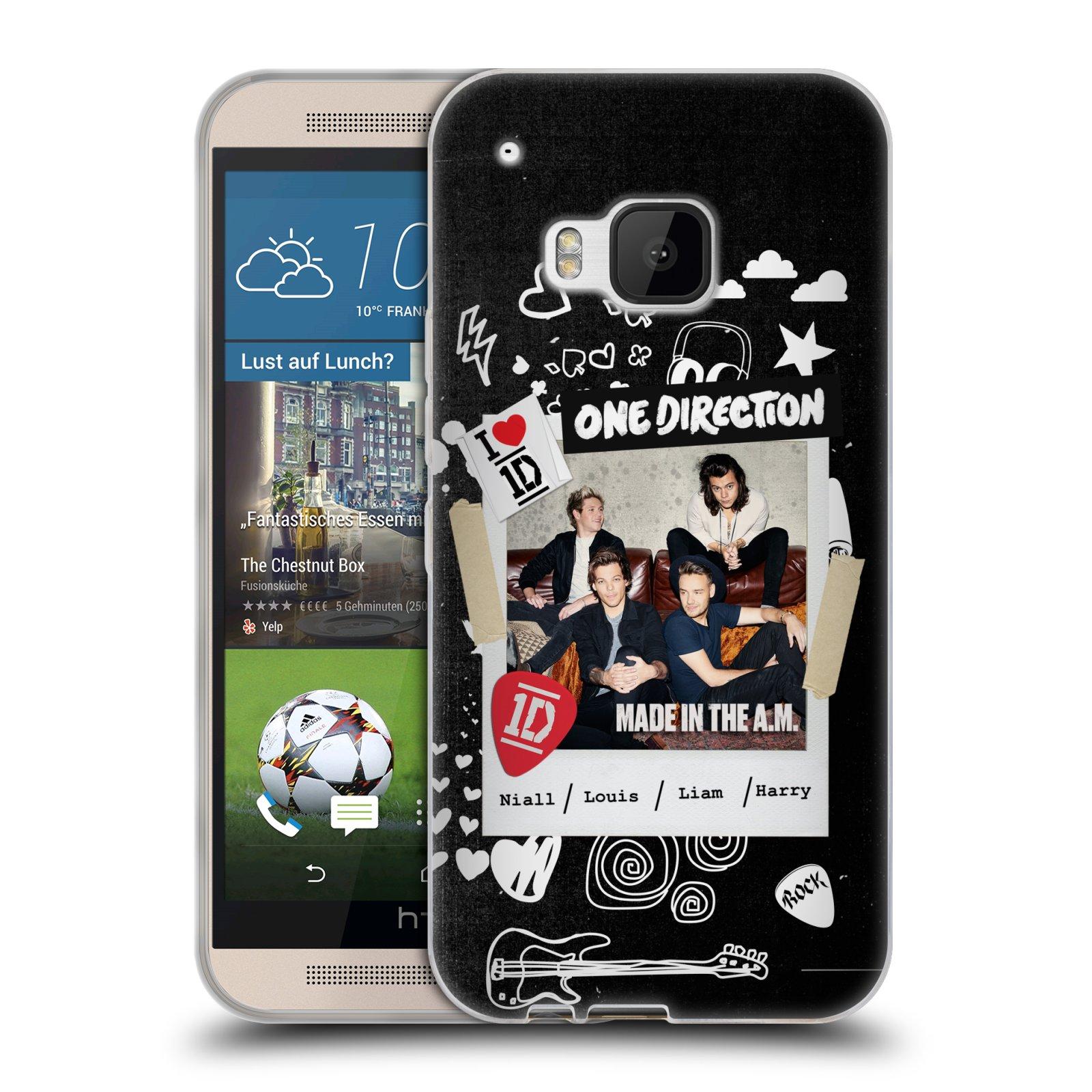 Silikonové pouzdro na mobil HTC ONE M9 HEAD CASE One Direction - S kytárou (Silikonový kryt či obal One Direction Official na mobilní telefon HTC ONE M9)
