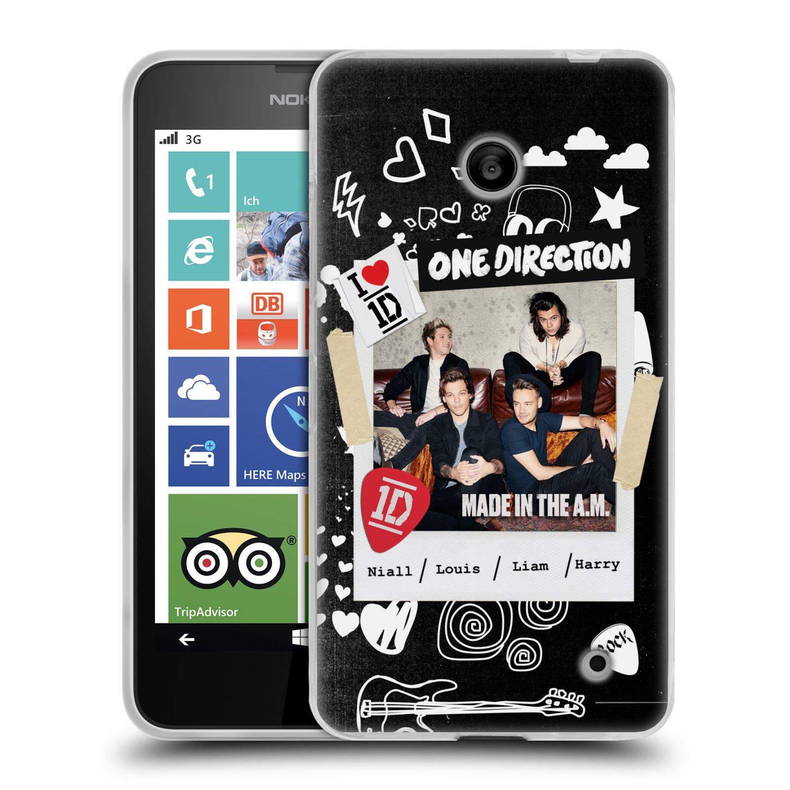 Silikonové pouzdro na mobil Nokia Lumia 635 HEAD CASE One Direction - S kytárou (Silikonový kryt či obal One Direction Official na mobilní telefon Nokia Lumia 635 Dual SIM)