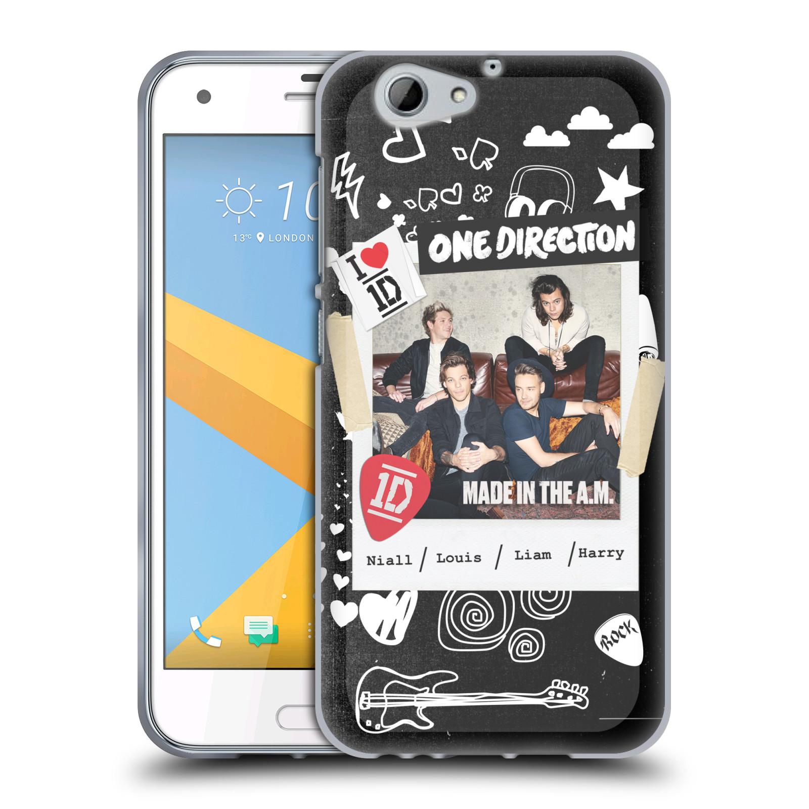 Silikonové pouzdro na mobil HTC One A9s Head Case - One Direction - S kytárou (Silikonový kryt či obal One Direction Official na mobilní telefon HTC One A9s (A9 s))