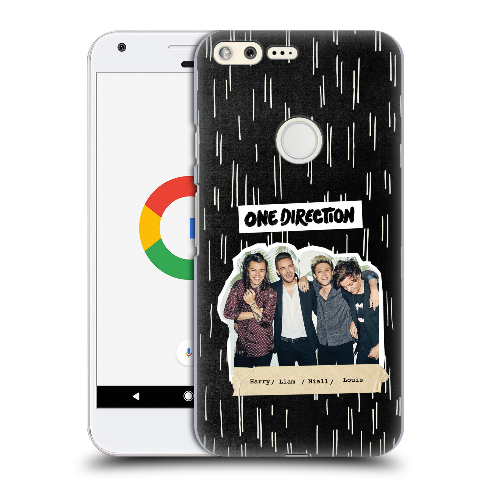 Plastové pouzdro na mobil Google Pixel HEAD CASE One Direction - Sticker Partička