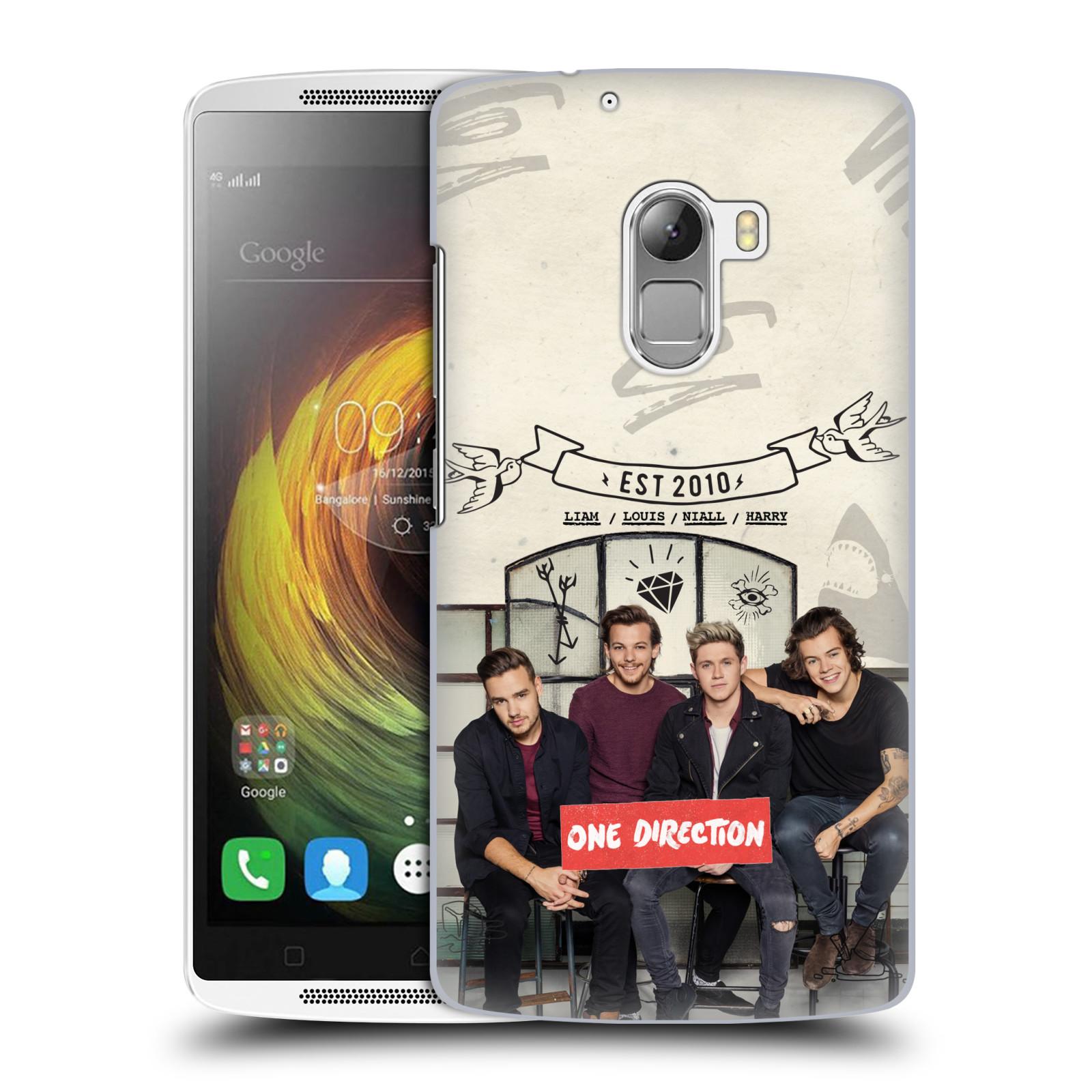 Plastové pouzdro na mobil Lenovo A7010 HEAD CASE One Direction - EST 2010 (Kryt či obal One Direction Official na mobilní telefon Lenovo A7010 Dual SIM / K4 Note / Vibe X3 Lite)