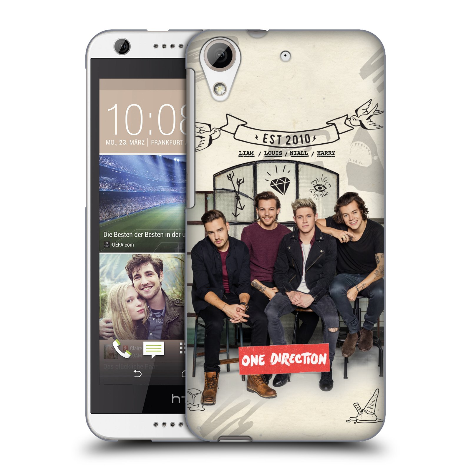 Plastové pouzdro na mobil HTC Desire 626 / 626G HEAD CASE One Direction - EST 2010 (Kryt či obal One Direction Official na mobilní telefon HTC Desire 626G Dual SIM a HTC Desire 626)