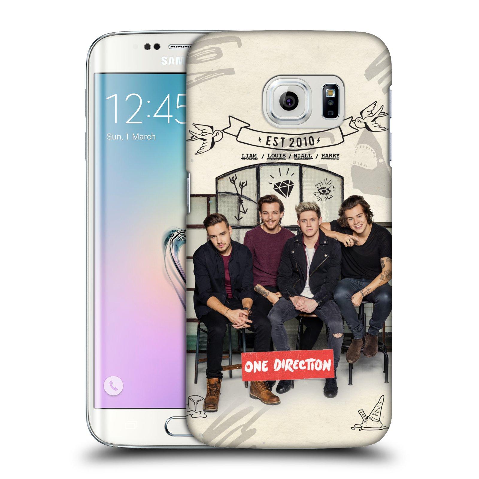 Plastové pouzdro na mobil Samsung Galaxy S6 Edge HEAD CASE One Direction - EST 2010 (Kryt či obal One Direction Official na mobilní telefon Samsung Galaxy S6 Edge SM-G925F)