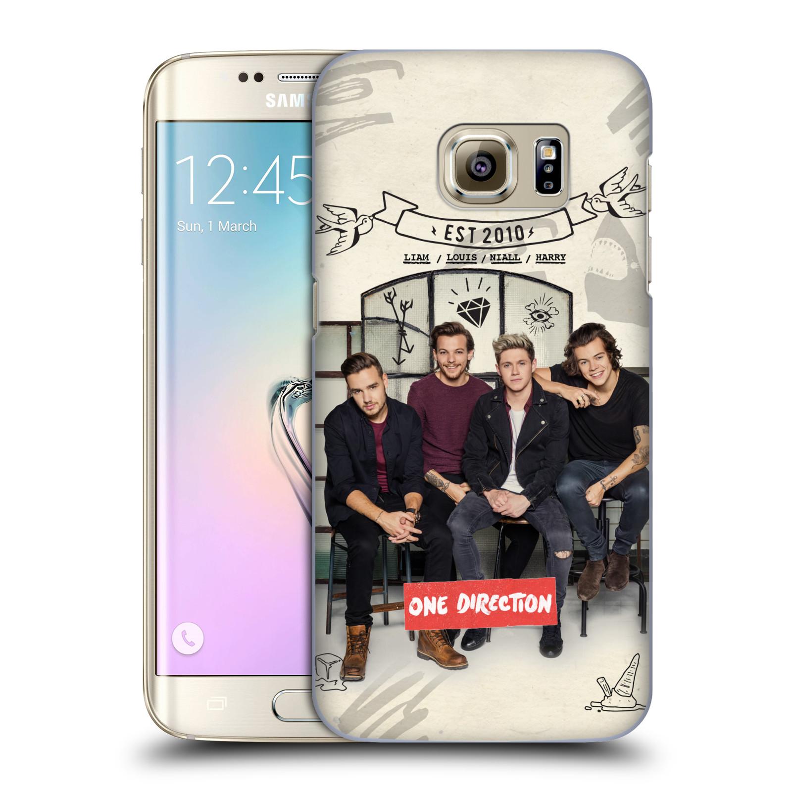 Plastové pouzdro na mobil Samsung Galaxy S7 Edge HEAD CASE One Direction - EST 2010 (Kryt či obal One Direction Official na mobilní telefon Samsung Galaxy S7 Edge SM-G935F)