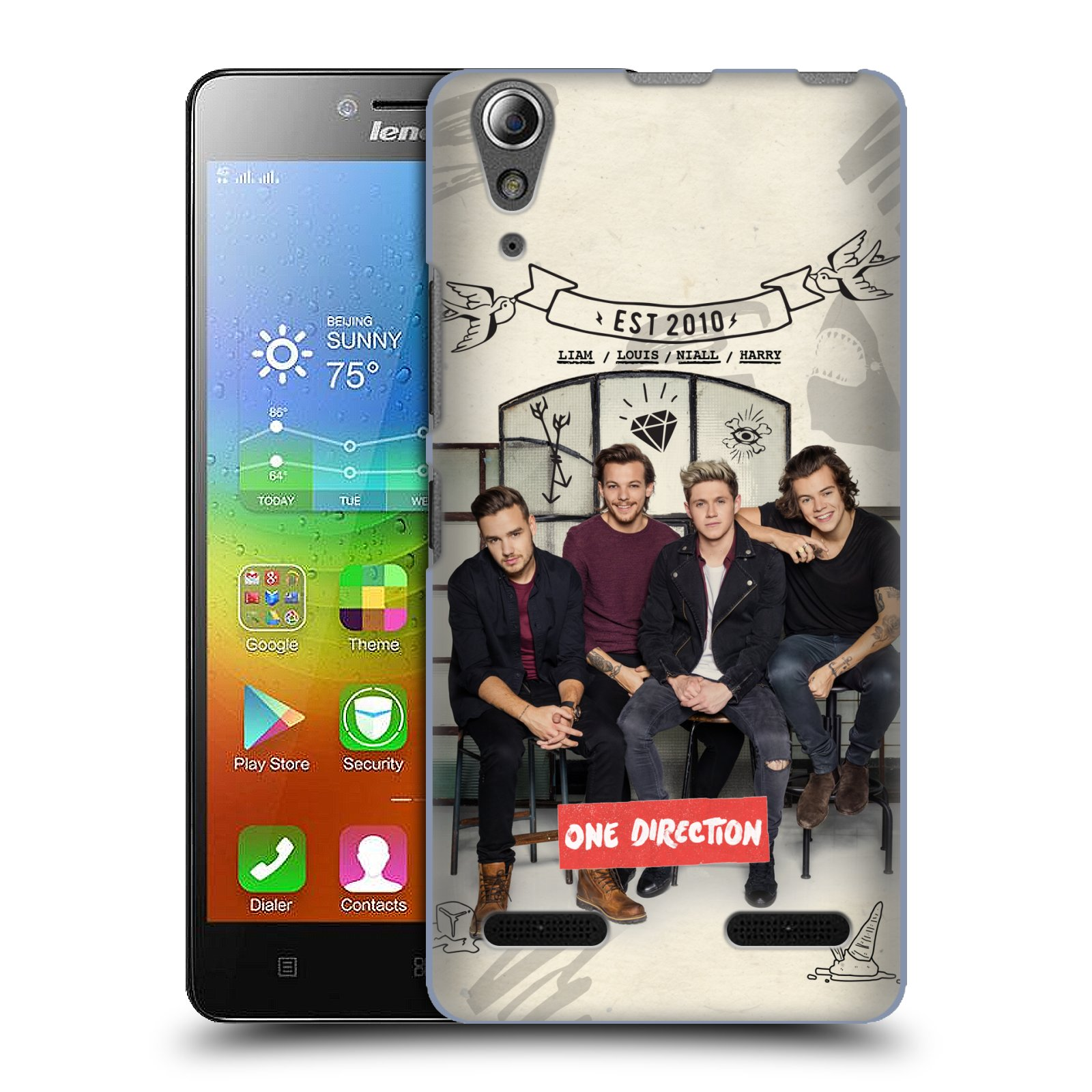 Plastové pouzdro na mobil Lenovo A6000 HEAD CASE One Direction - EST 2010 (Kryt či obal One Direction Official na mobilní telefon Lenovo A6000)