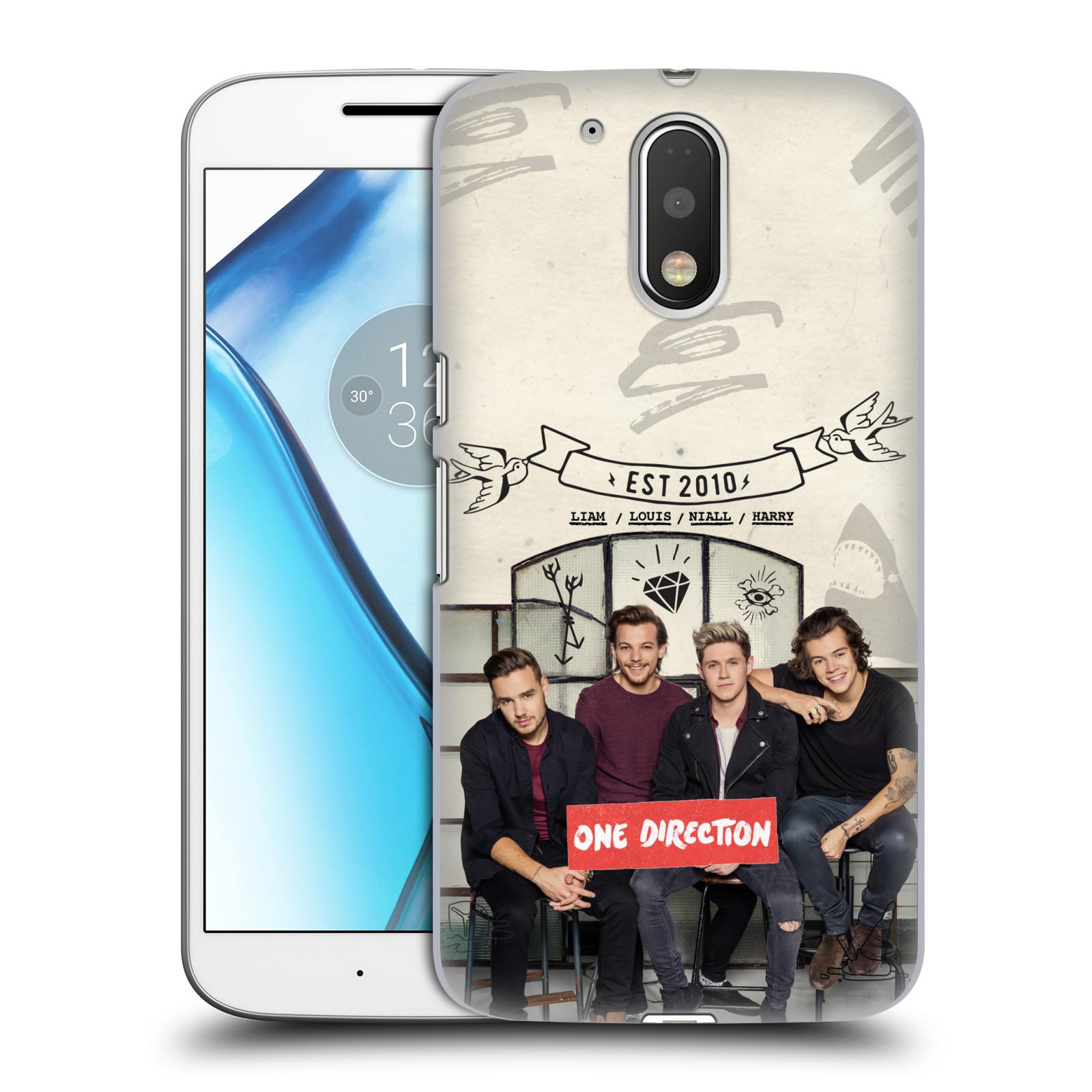 Plastové pouzdro na mobil Lenovo Moto G4 HEAD CASE One Direction - EST 2010 (Plastový kryt či obal One Direction Official na mobilní telefon Lenovo Moto G4 (Single a Dual SIM))