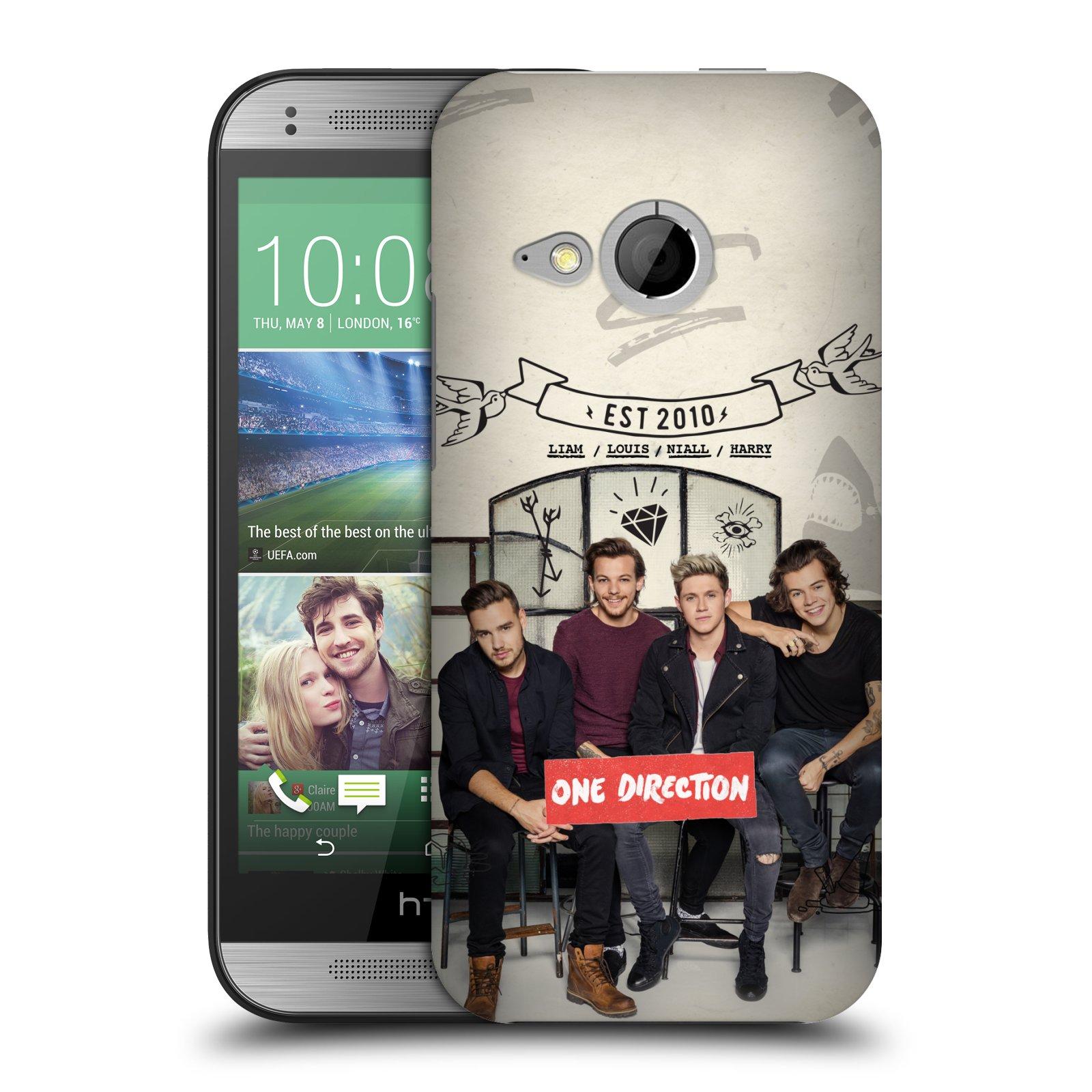 Plastové pouzdro na mobil HTC ONE Mini 2 HEAD CASE One Direction - EST 2010 (Kryt či obal One Direction Official na mobilní telefon HTC ONE Mini 2)