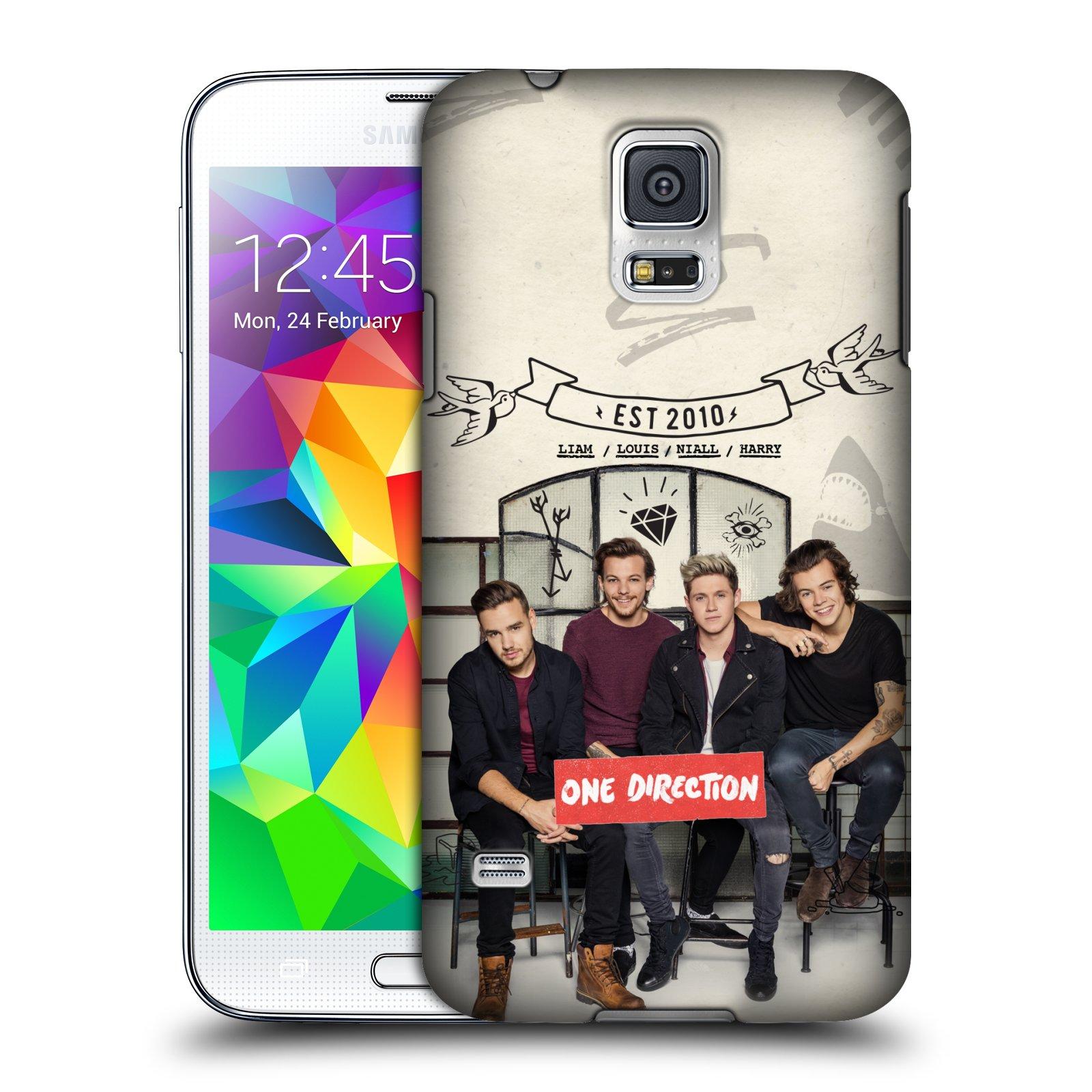 Plastové pouzdro na mobil Samsung Galaxy S5 HEAD CASE One Direction - EST 2010